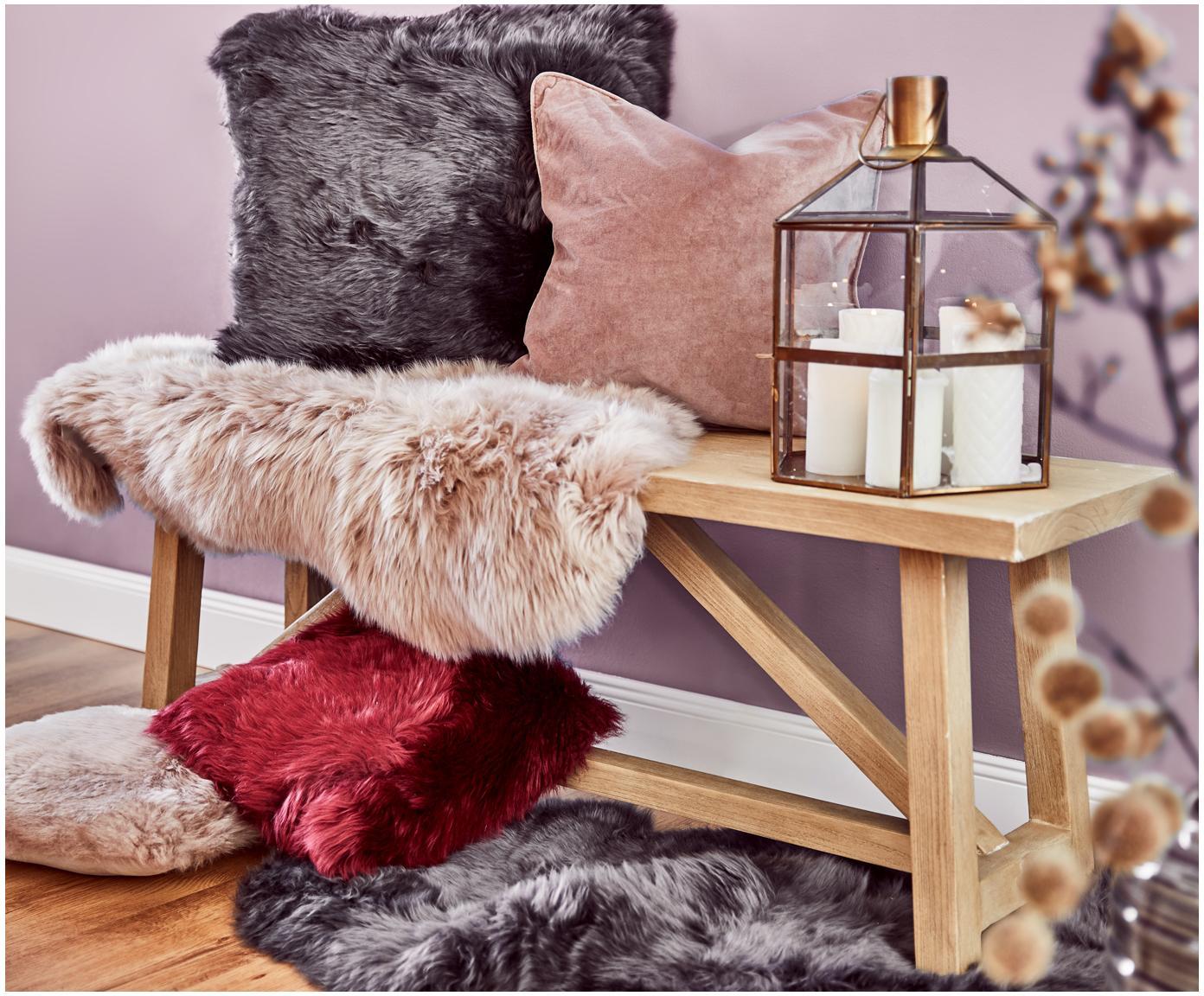 Funda de cojín de terciopelo Dana, Terciopelo de algodón, Palo rosa, An 40 x L 40 cm
