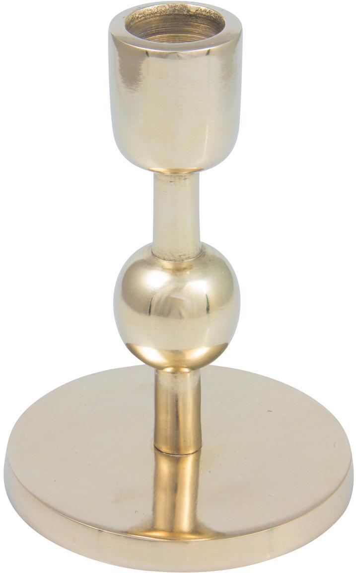 Candelabro Edgar, Aluminio, Dorado, Ø 9 x Al 13 cm