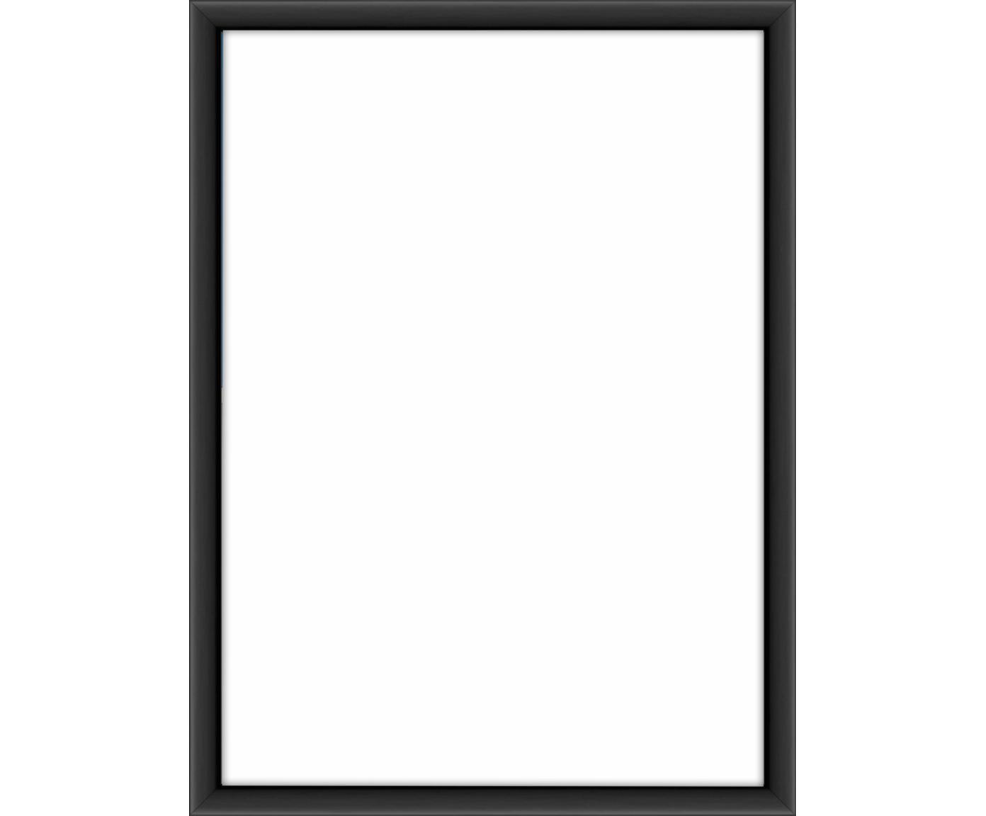 Bilderrahmen Accent, Rahmen: Aluminium, beschichtet, Front: Glas, Rückseite: Mitteldichte Holzfaserpla, Schwarz, 13 x 18 cm