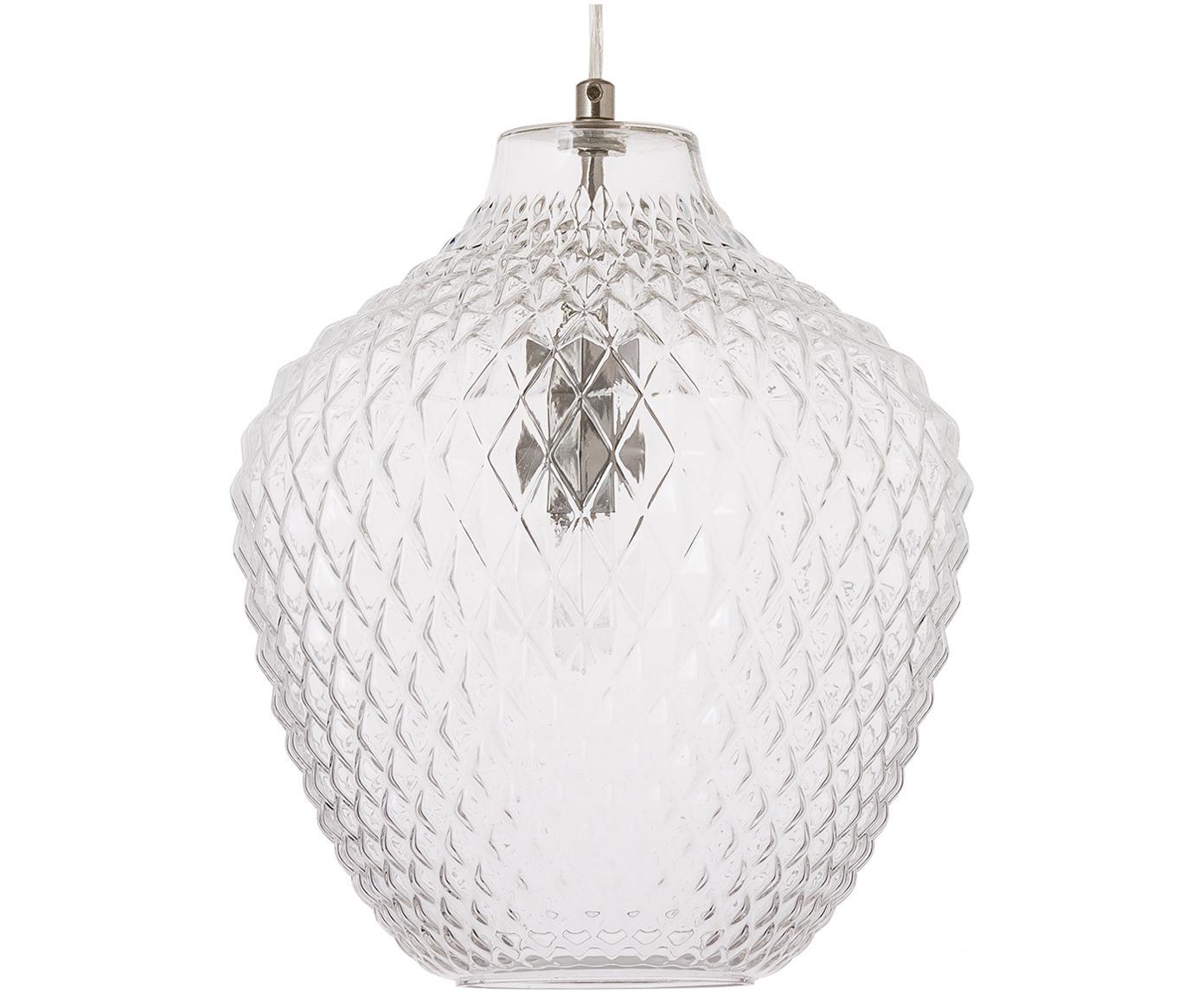 Lámpara de techo Lee, Pantalla: vidrio, Transparente, cromo, ∅ 27 x Al 33 cm