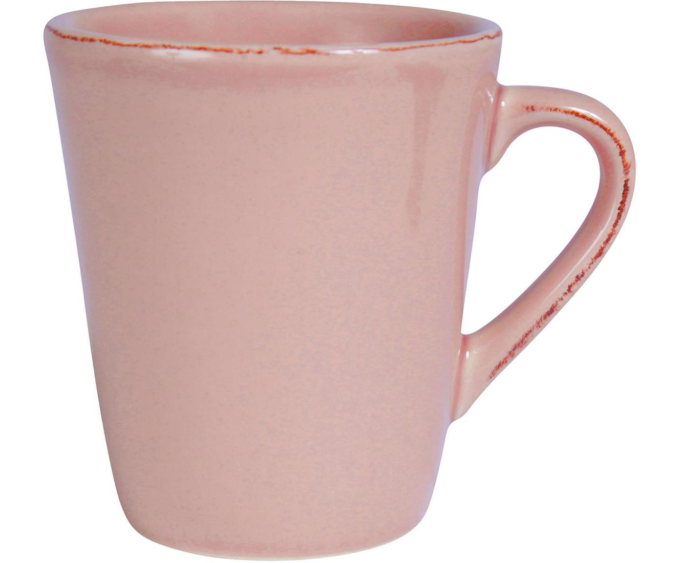 Tazas de café American, 2uds., Gres, Rosa, An 9 x L 11 cm