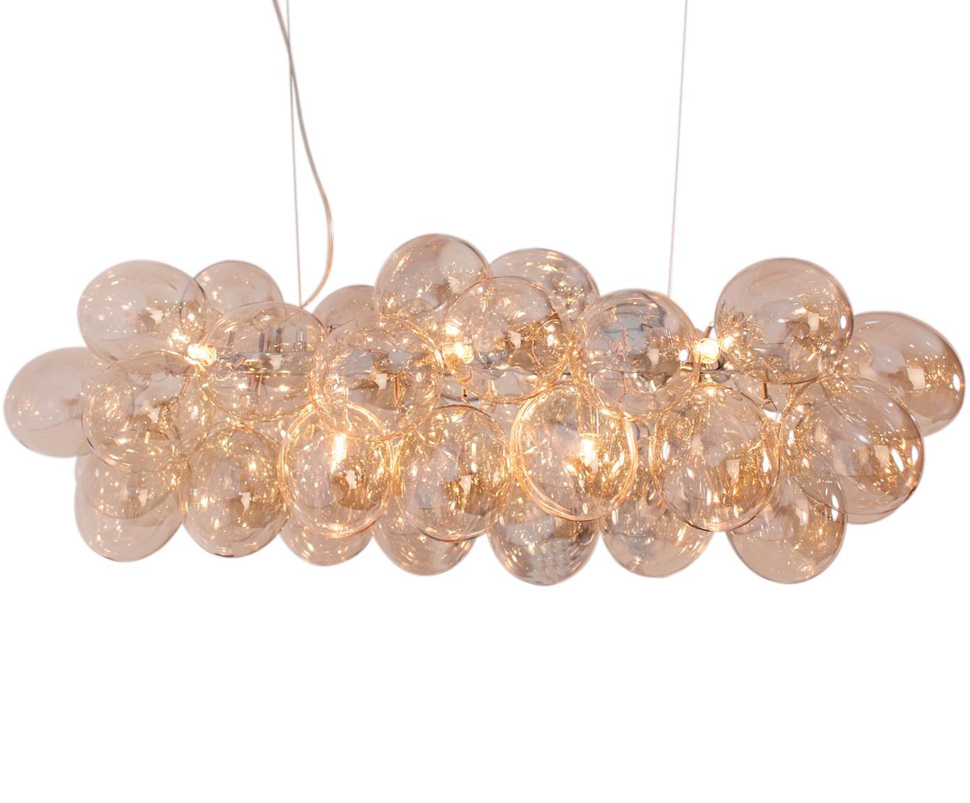 Hanglamp met glazen bollen Gross Bar, Amberkleurig, 80 x 36 cm