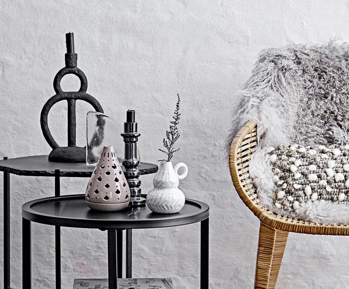 Kerzenhalter Kika, Polyresin, Schwarz, 18 x 29 cm