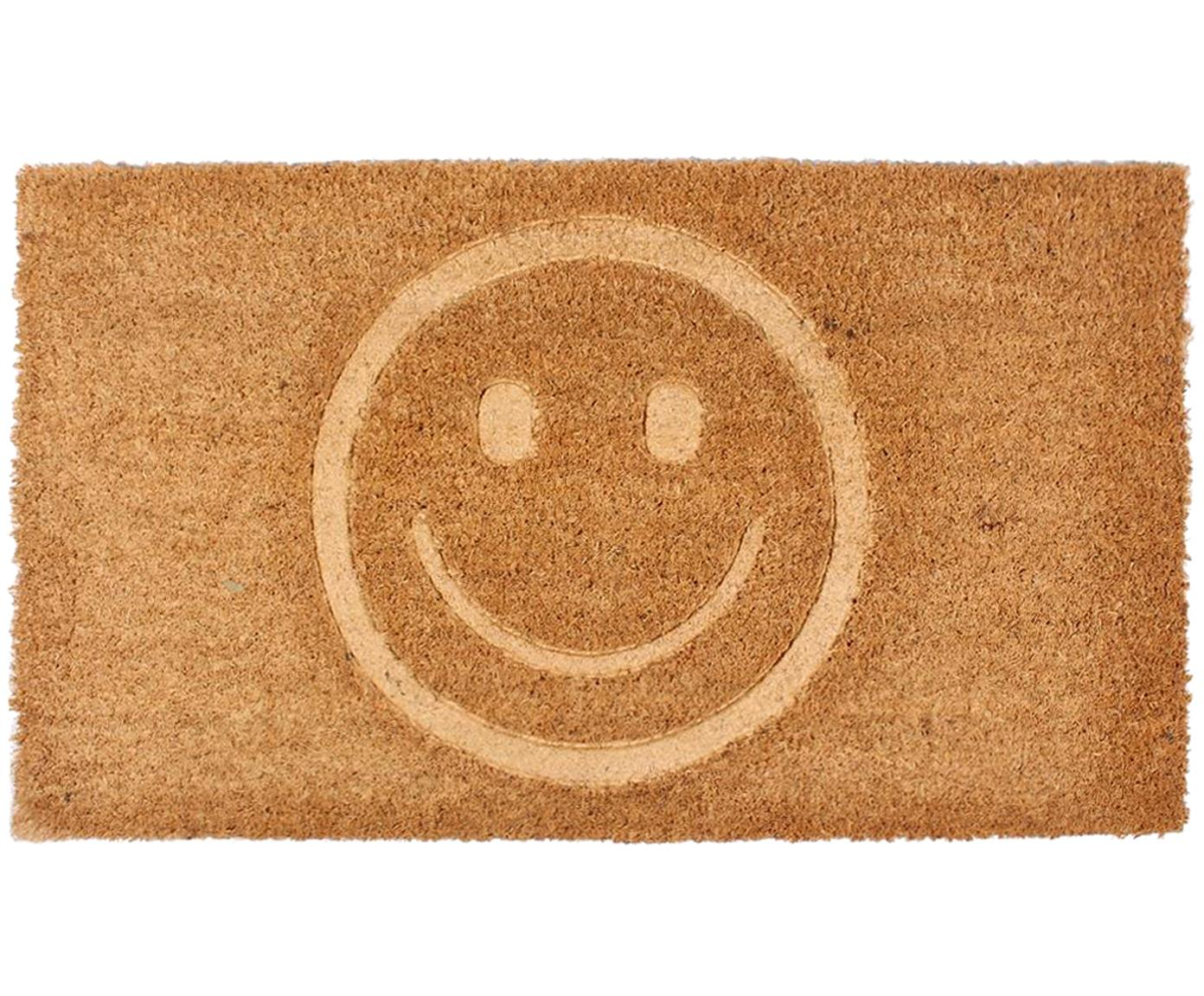 Wycieraczka Smile, Brązowy, S 40 x D 70 cm