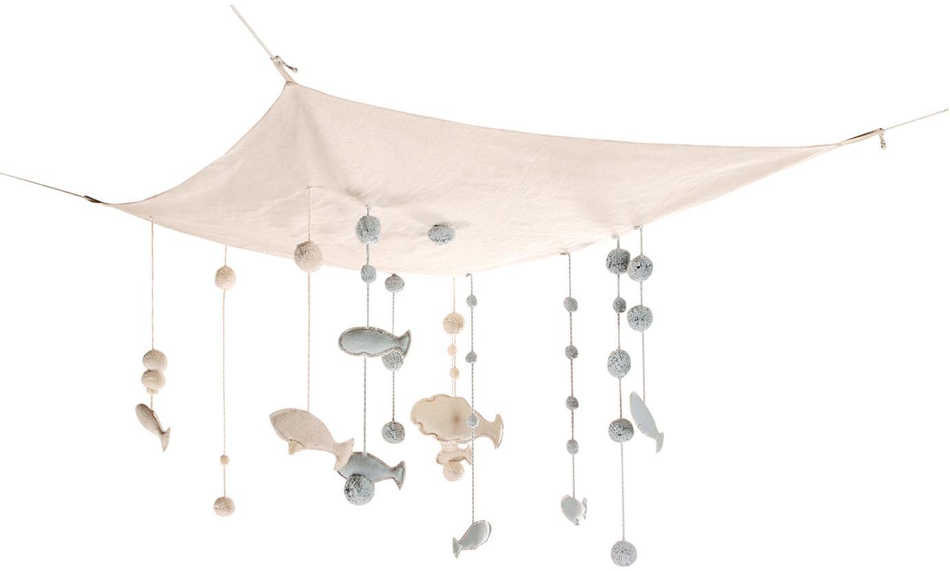 XL Baldachin Sea Sky, Bezug: 80% Baumwolle, 20% recyce, Beige, 100 x 120 cm