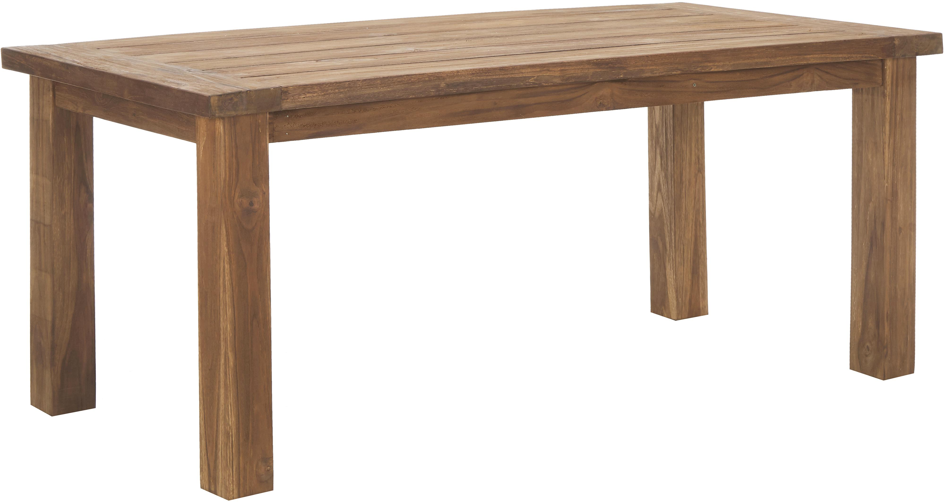 Mesa de comedor de madera maciza Bois, Madera de teca maciza sin tratar, Teca, An 180 x F 90 cm