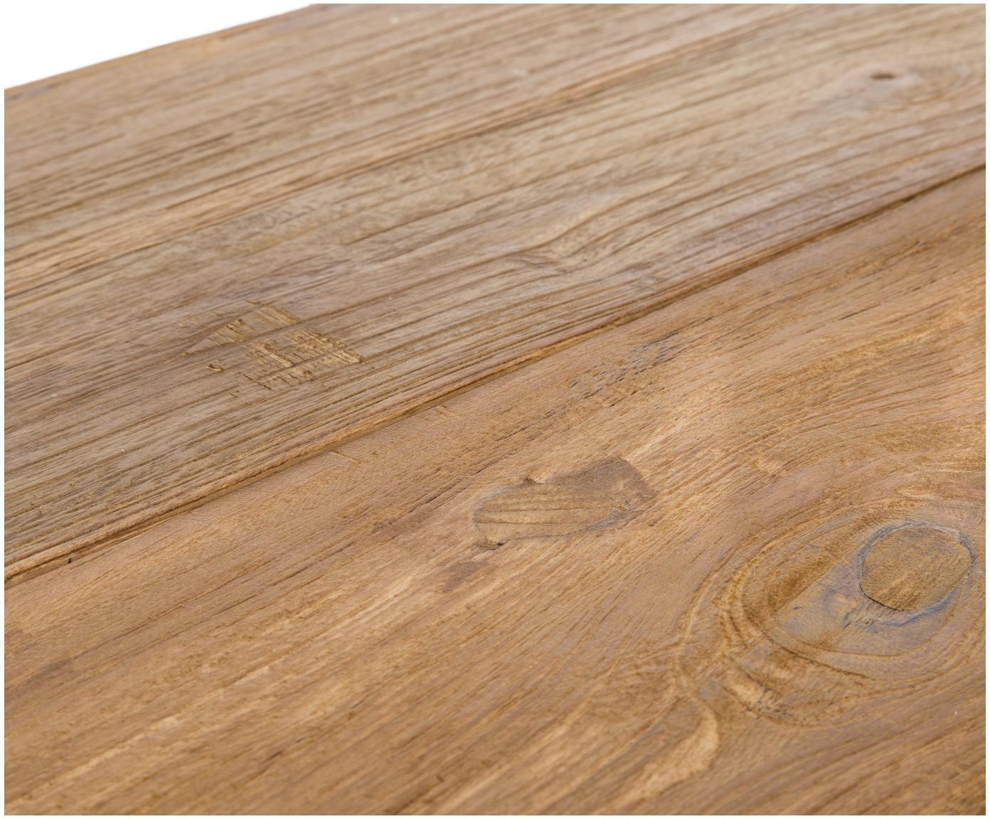 Massivholz Esstisch Bois, Massives Teakholz, unbehandelt, Teak, B 180 x T 90 cm
