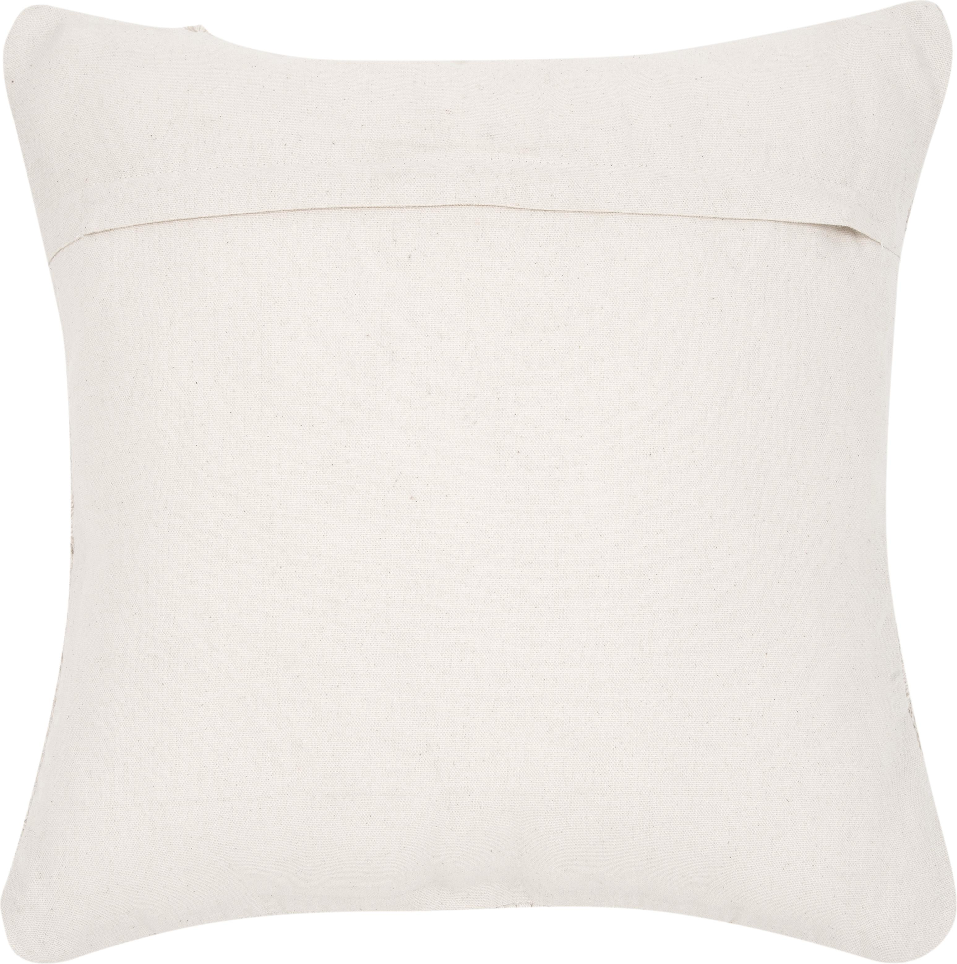 Poszewka na poduszkę Akesha, 100% bawełna, Ecru, S 45 x D 45 cm