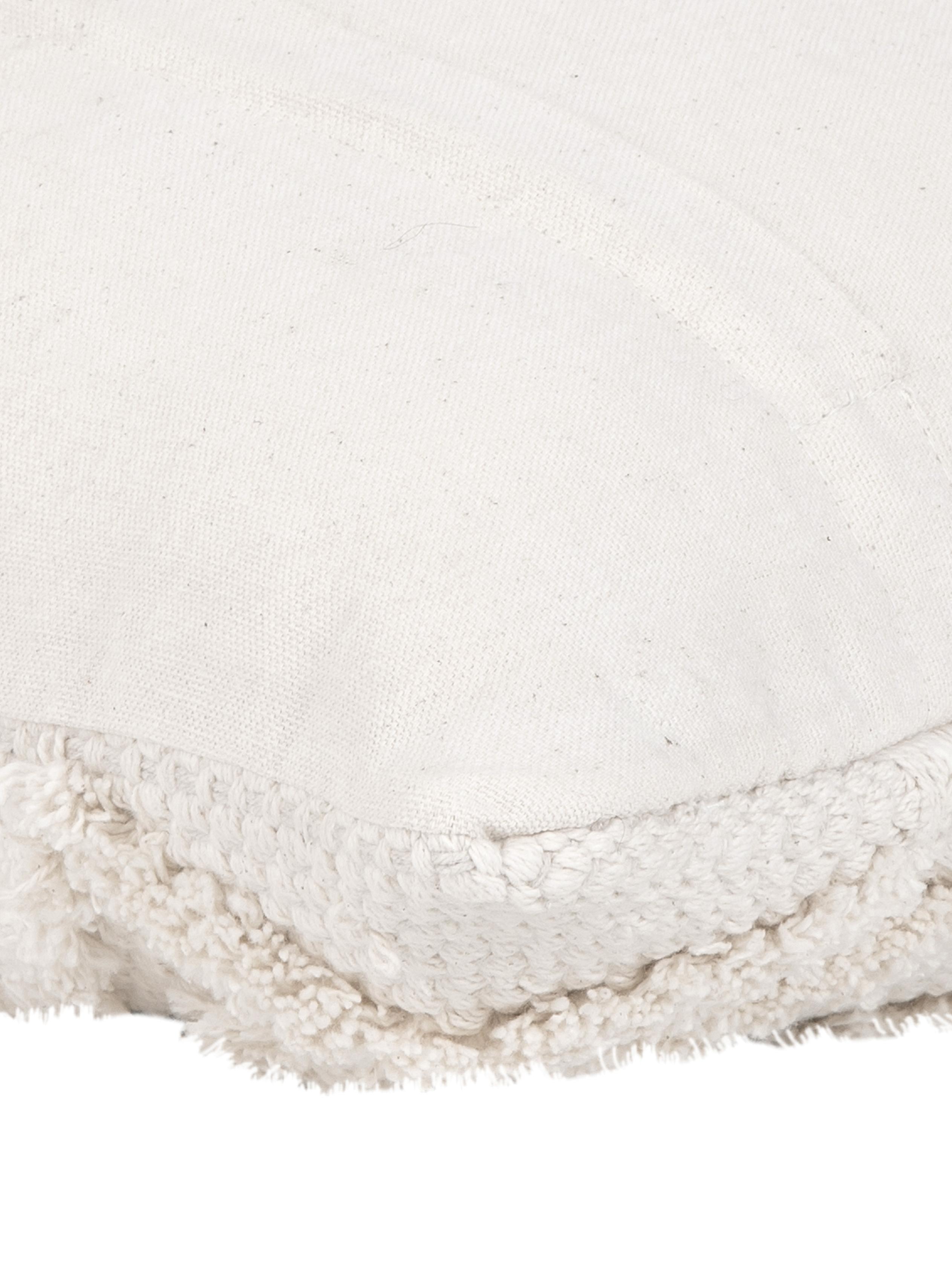 Funda de cojín Akesha, Algodón, Crudo, An 45 x L 45 cm
