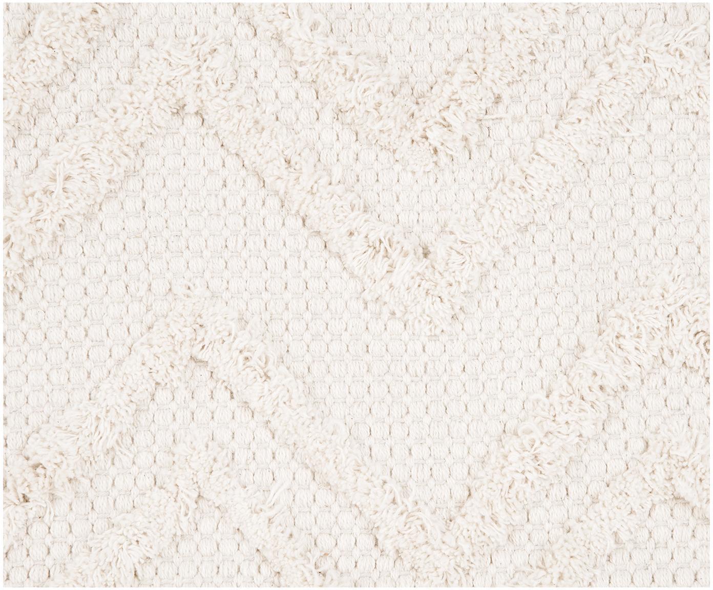 Povlak na polštář sklikatým vzorem Akesha, Režná