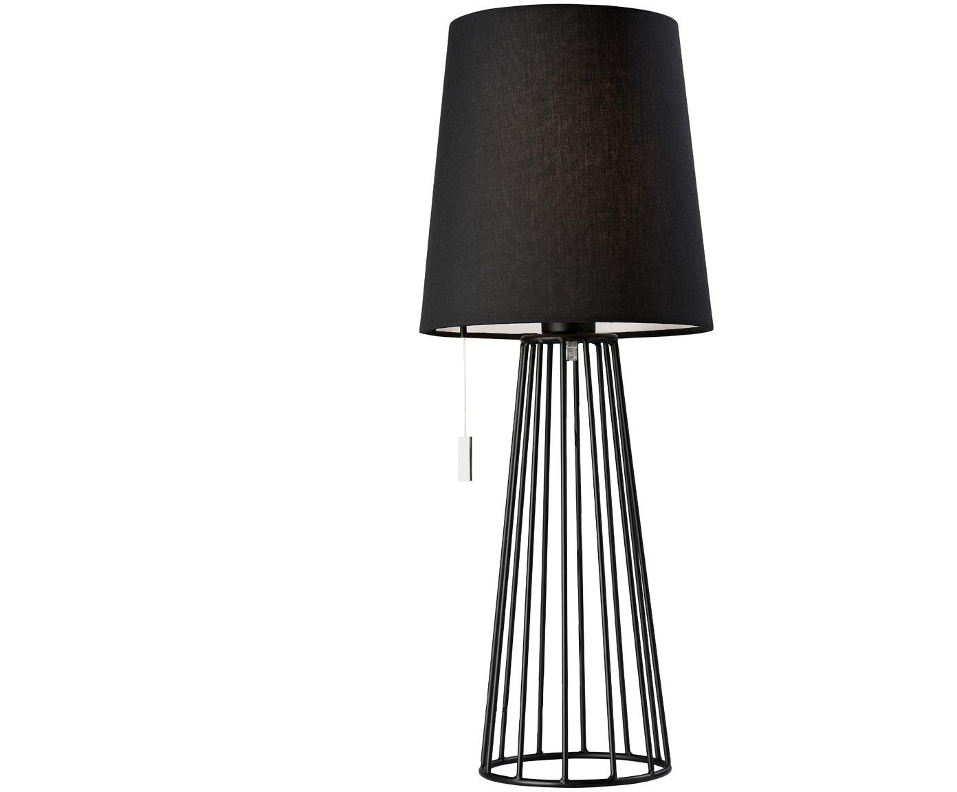 Duża lampa stołowa Mailand, Czarny, Ø 23 x W 59 cm