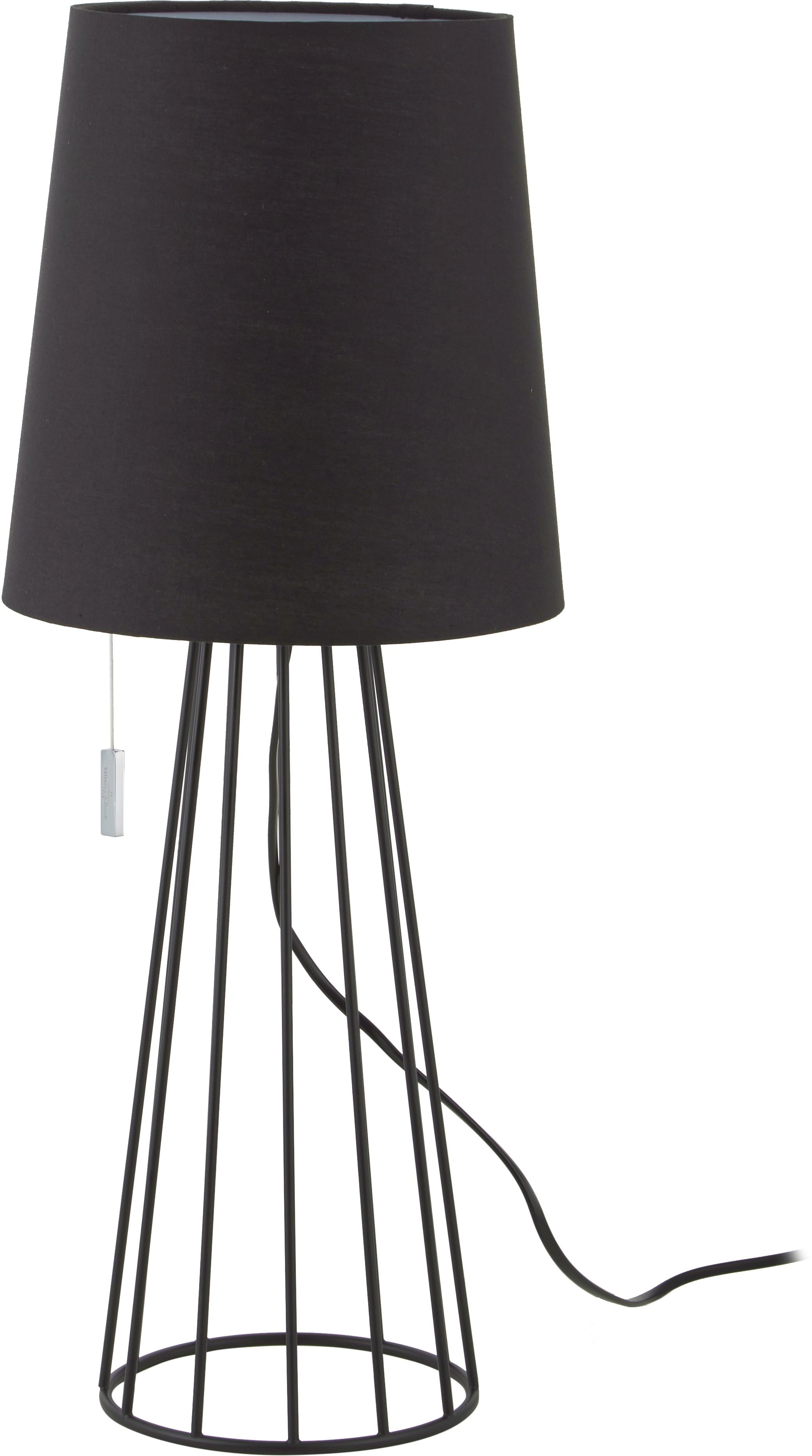 Grote tafellamp Mailand, Lampvoet: vermessingt en gelakt met, Zwart, Ø 23 x H 59 cm