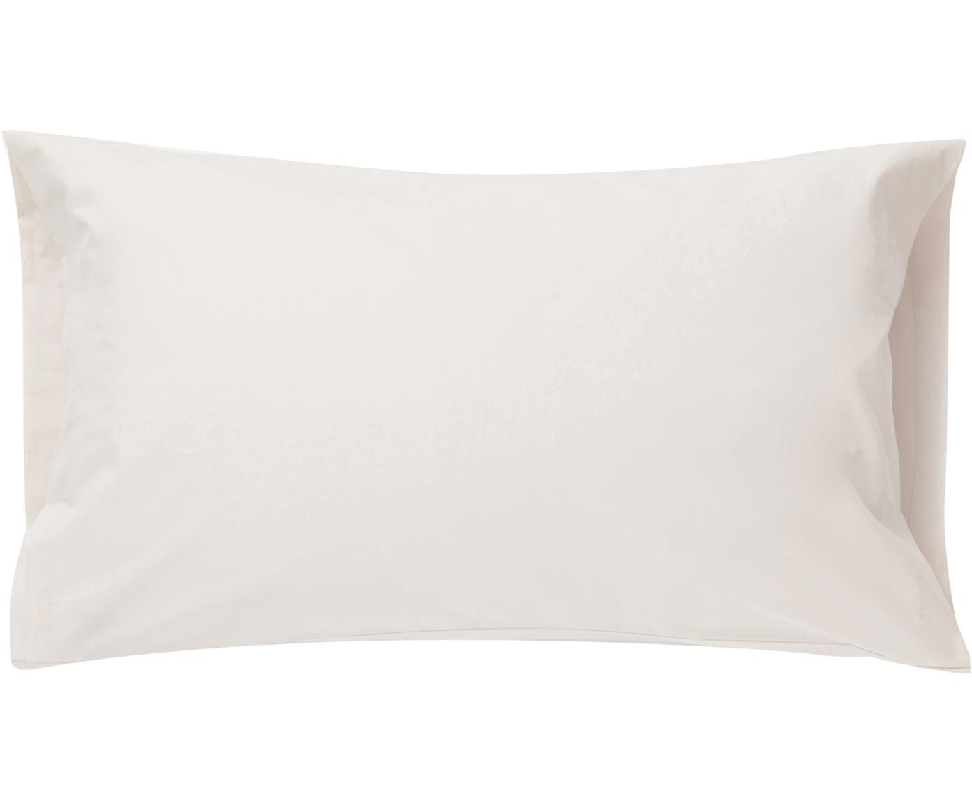 Fundas de almohada Plain Dye, 2uds., Algodón, Crema, An 50 x L 85 cm