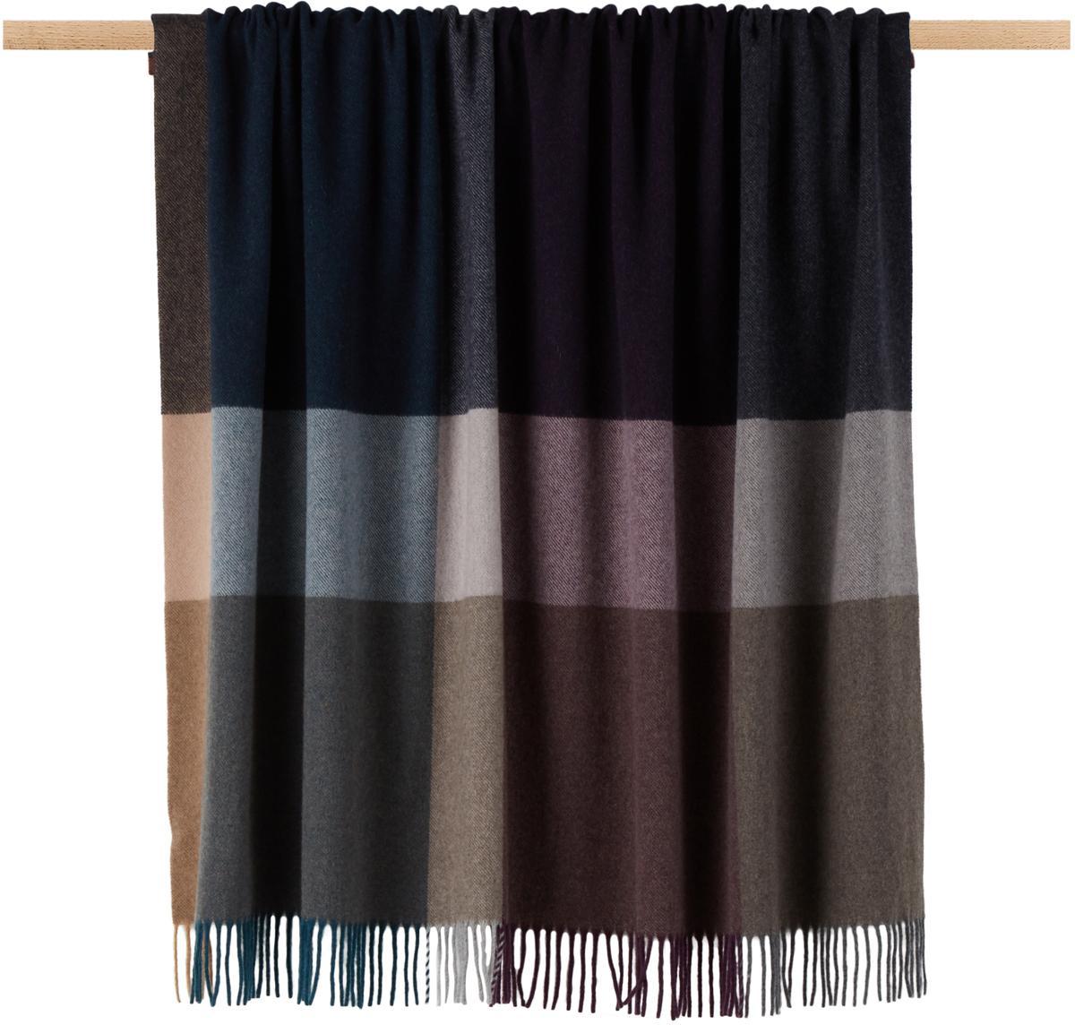 Kaschmir-Plaid Variation Purple, 80% Wolle, 20% Kaschmir, Mehrfarbig, 130 x 170 cm
