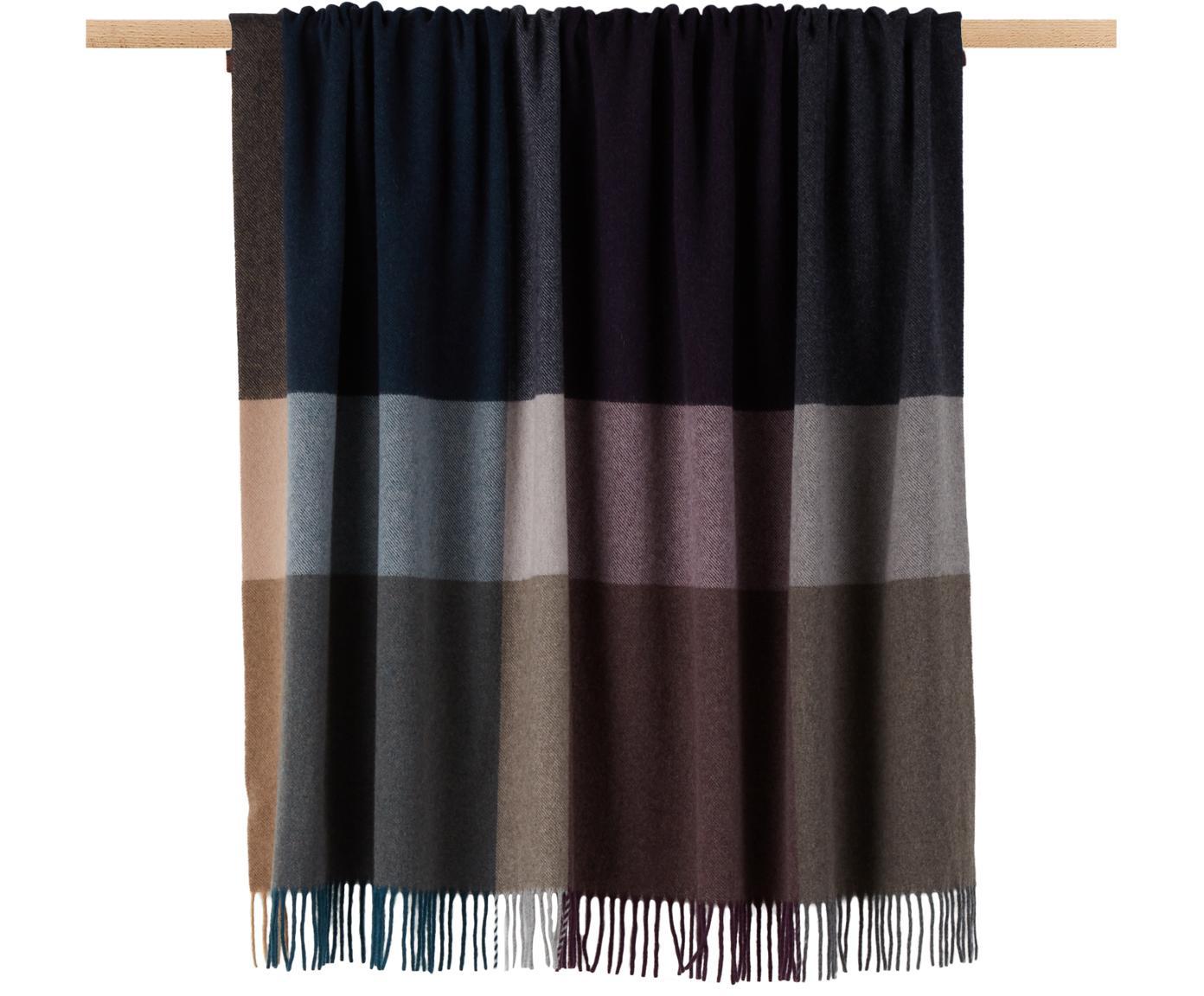 Manta de cachemir Variation Purple, 80%lana, 20%cachemir, Multicolor, An 130 x L 170 cm