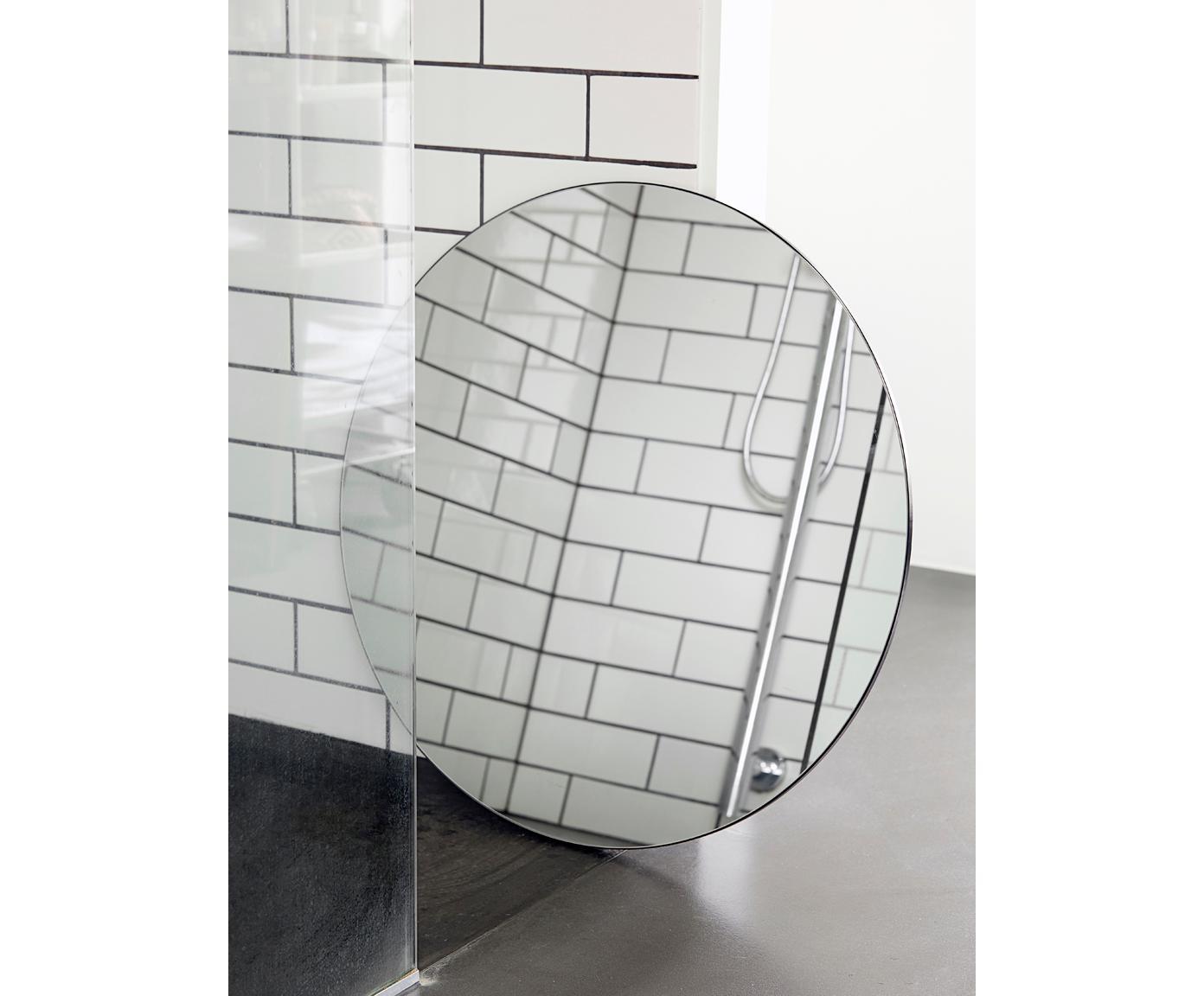 Wandspiegel Walls, Spiegelfläche: Spiegelglas, Rückseite: Mitteldichte Holzfaserpla, Spiegelglas, Ø 80 cm