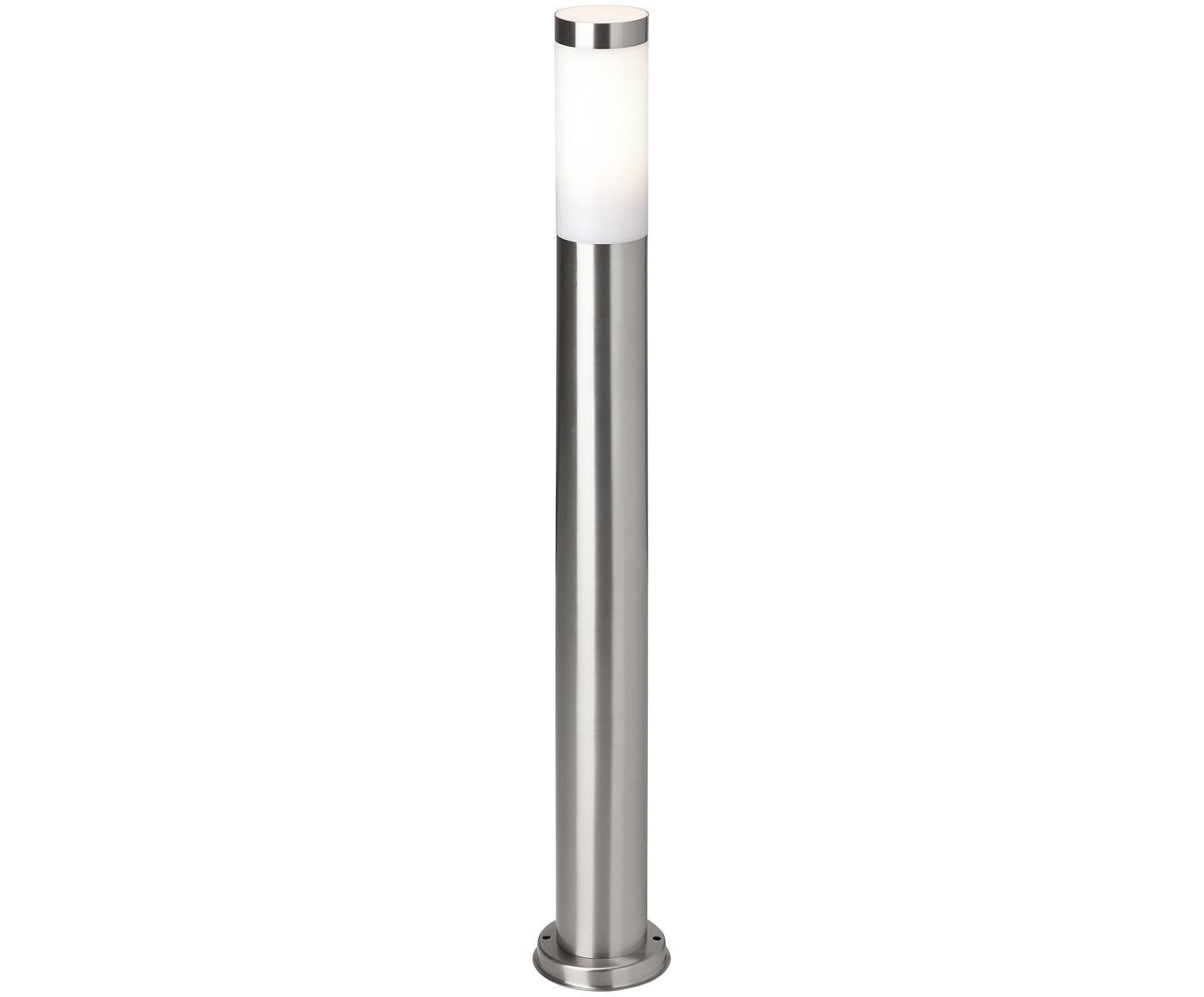 Lámpara de pie para exterior Chorus, Acero inoxidable, blanco, Ø 8 x Al 80 cm