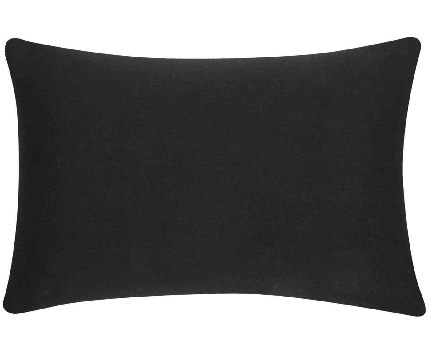 Poszewka na poduszkę z bawełny Mads, Bawełna, Czarny, S 30 x D 50 cm