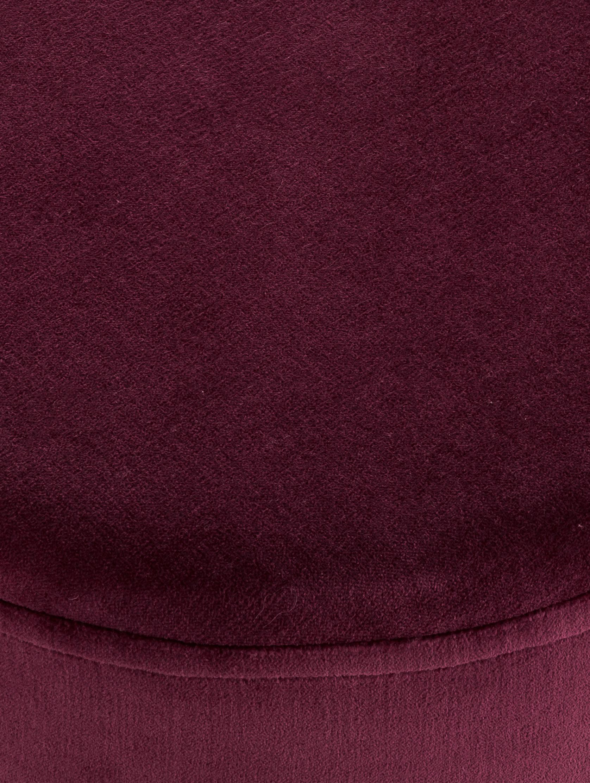 Samt-Hocker Haven, Bezug: Baumwollsamt, Fuß: Metall, pulverbeschichtet, Dunkelrot, Goldfarben, ∅ 38 x H 45 cm