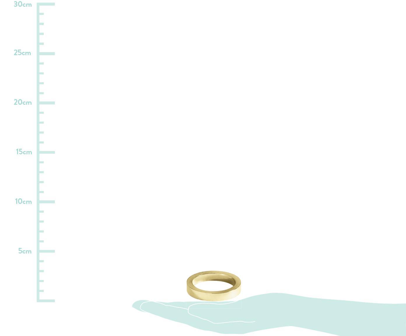 Serviettenringe Vasa, 4 Stück, Metall, beschichtet mit Antik-Finish, Goldfarben, Ø 5 cm