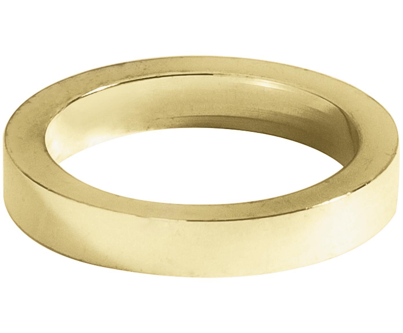 Obrączka na serwetkę Vasa, 4szt., Metal powlekany z antycznym wykończeniem, Odcienie złotego, Ø 5 cm