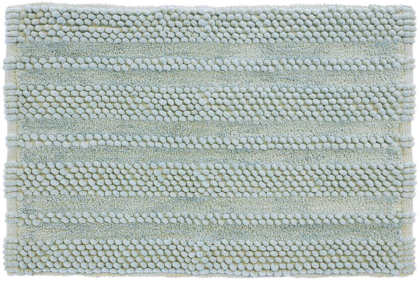 Dywanik łazienkowy z  wysokim stosem Bea, 65% kordonek, 35% bawełna, Zielony miętowy, S 80 x D 120 cm
