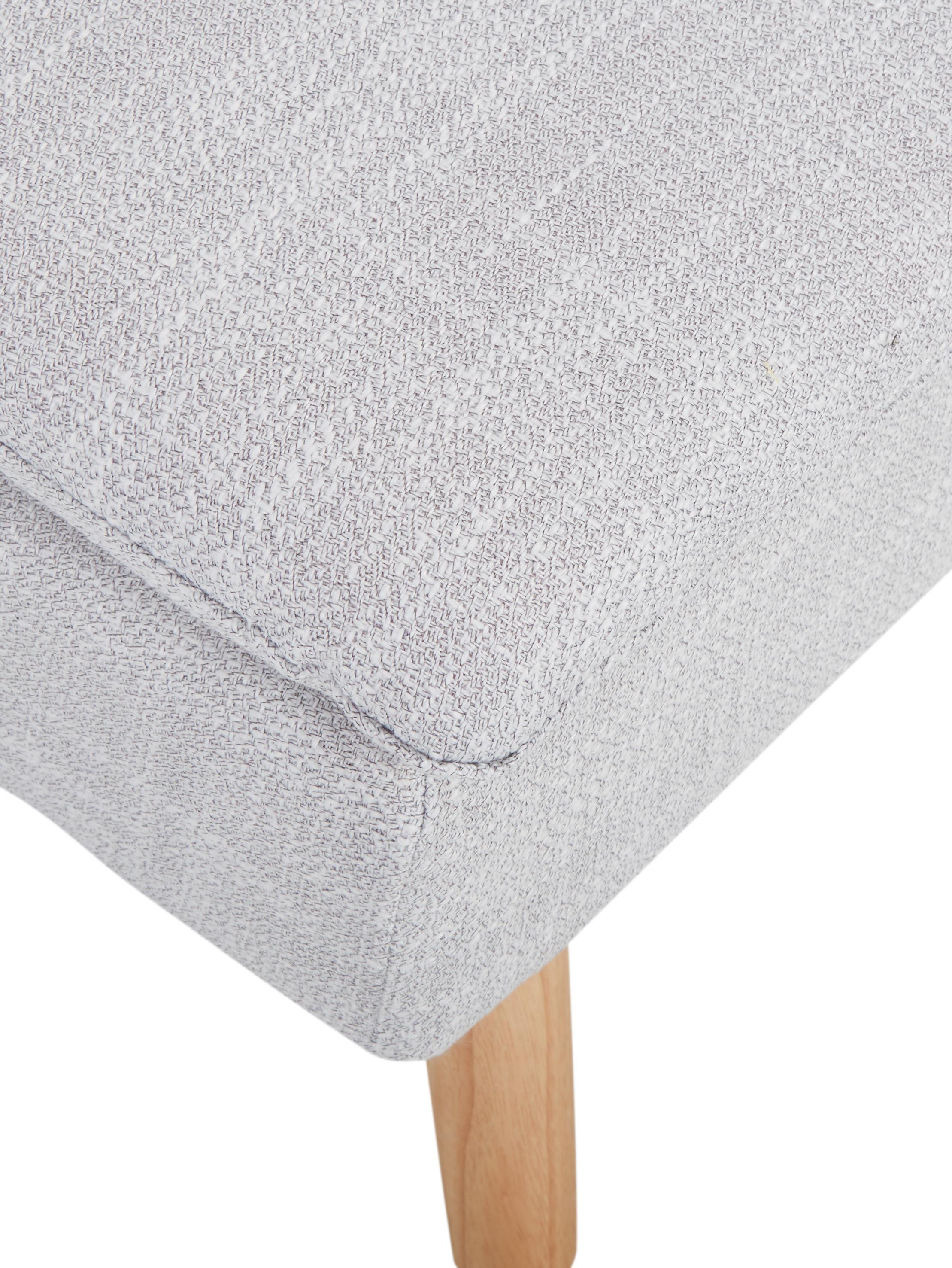 Schlafsofa Amelie, Bezug: Polyester Der hochwertige, Gestell: Kiefernholz Dichte 35 kg/, Füße: Kautschukholz, Webstoff Hellgrau, 200 x 79 cm