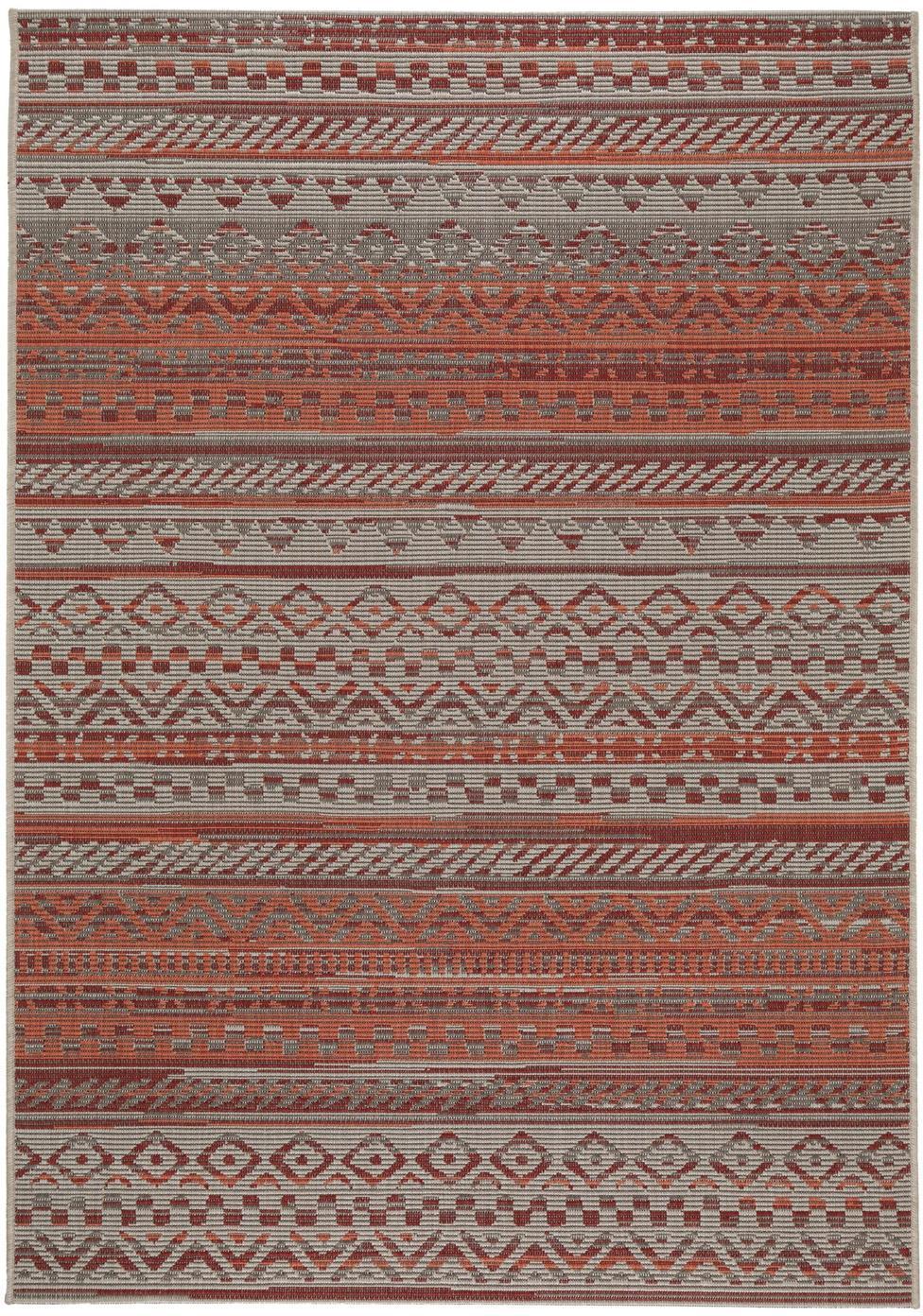 Tappeto da interno-esterno Carina, 100% polipropilene, Rosso, Larg. 80 x Lung. 150 cm (taglia XS)