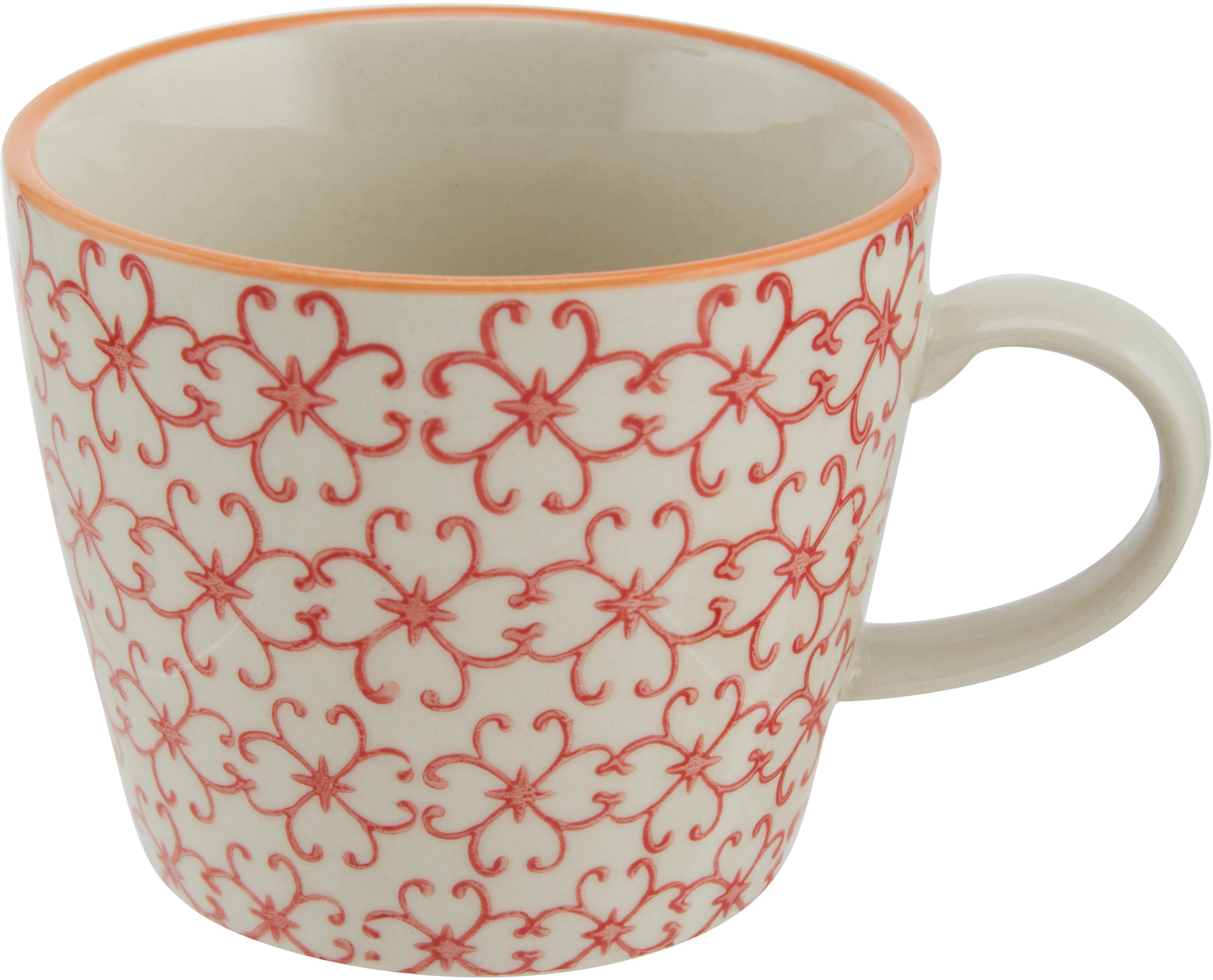 Service de tasses Carla, 4pièces, Blanc, noir, jaune, rouge, orange