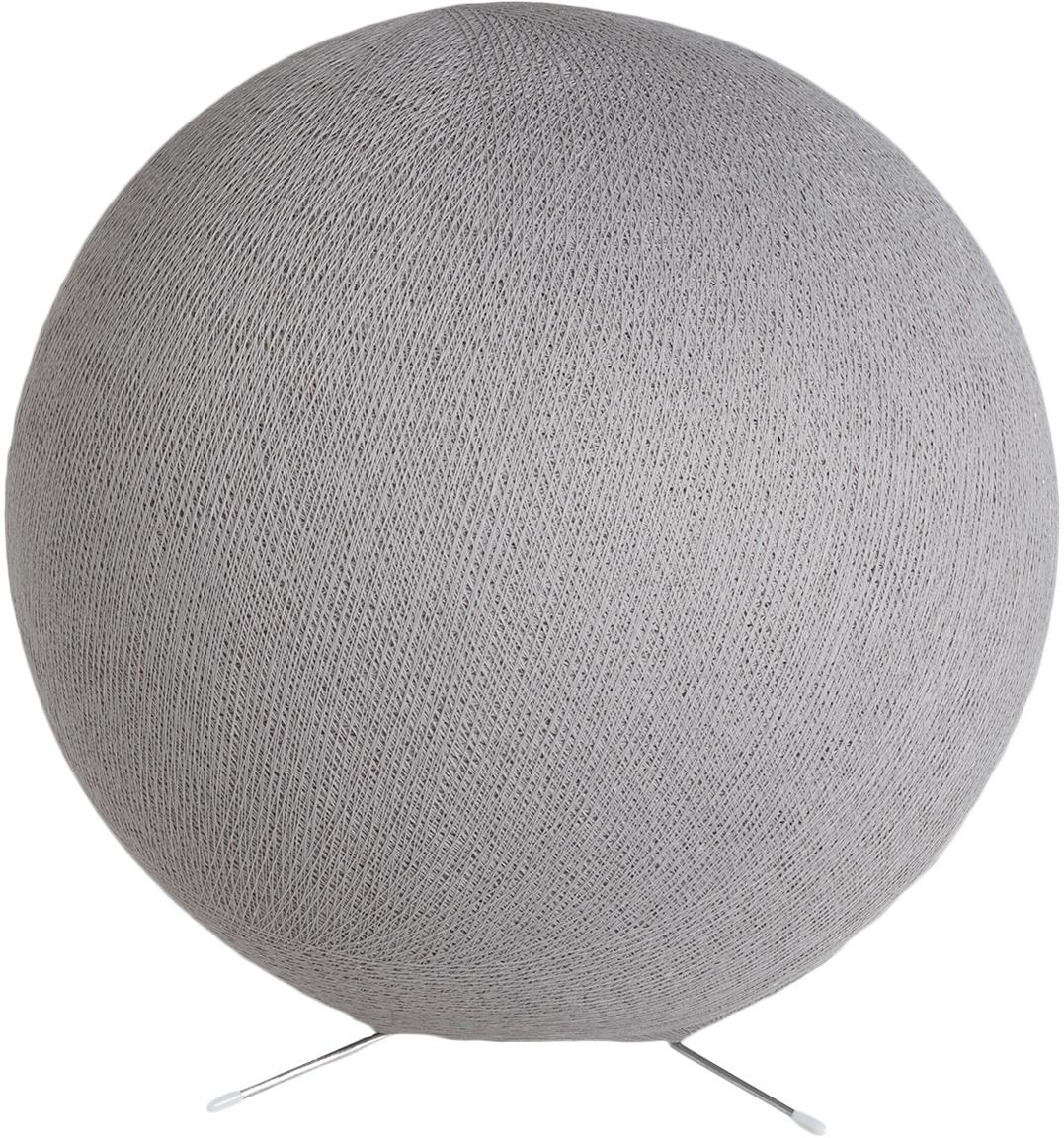 Lámpara de mesa Colorain, Pantalla: poliéster, Base de la lámpara: metal, Cable: plástico, Gris, Ø 36 cm