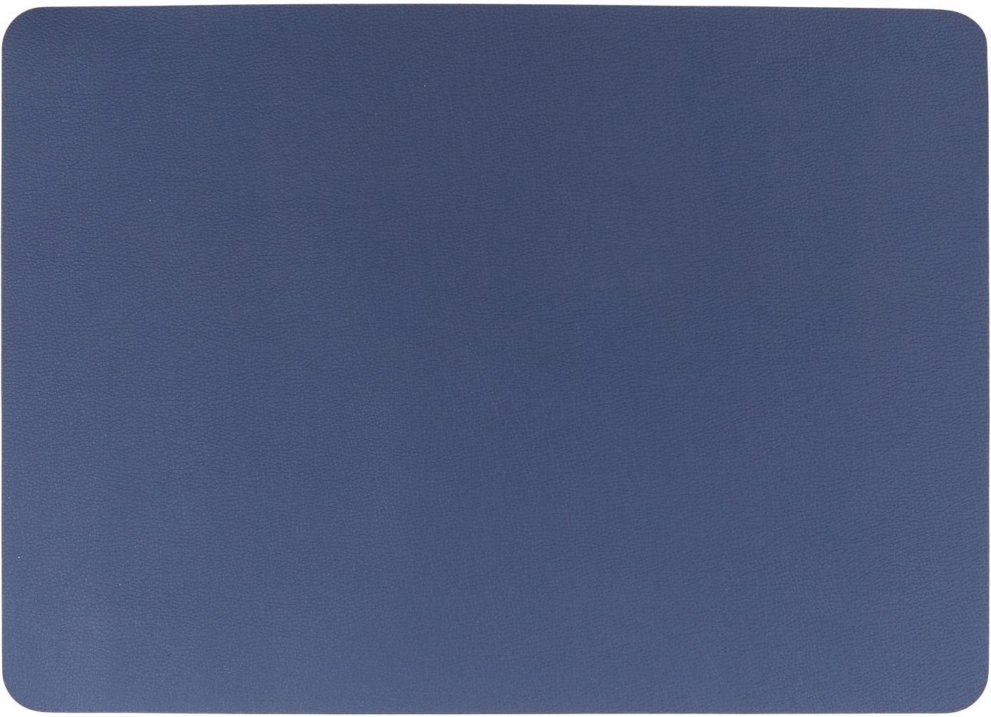 Manteles individuales de cuero sintético Pik, 2uds., Cuero sintético (PVC), Azul marino, An 33 x L 46 cm