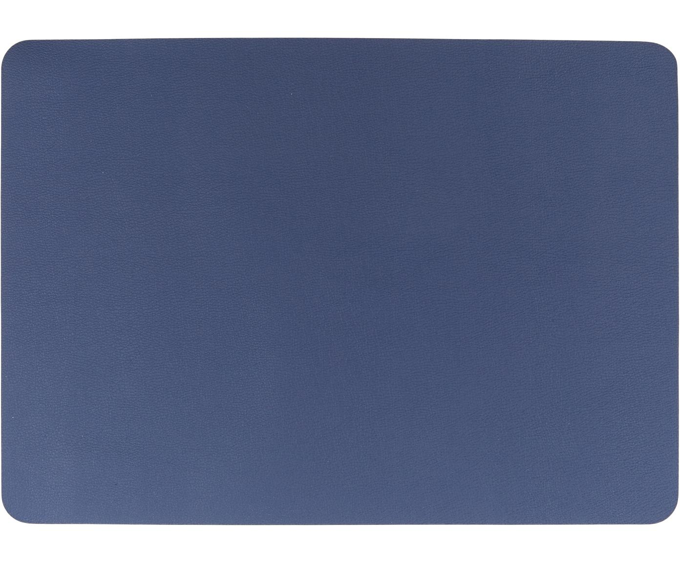 Kunstleder-Tischsets Pik, 2 Stück, Kunstleder (PVC), Navy, 33 x 46 cm