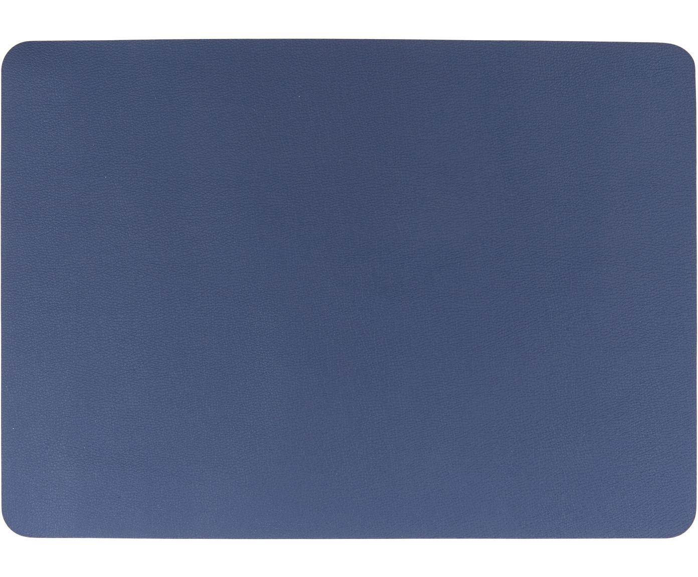 Placemats Pik, 2 stuks, Kunststof (PVC), Marineblauw, 33 x 46 cm