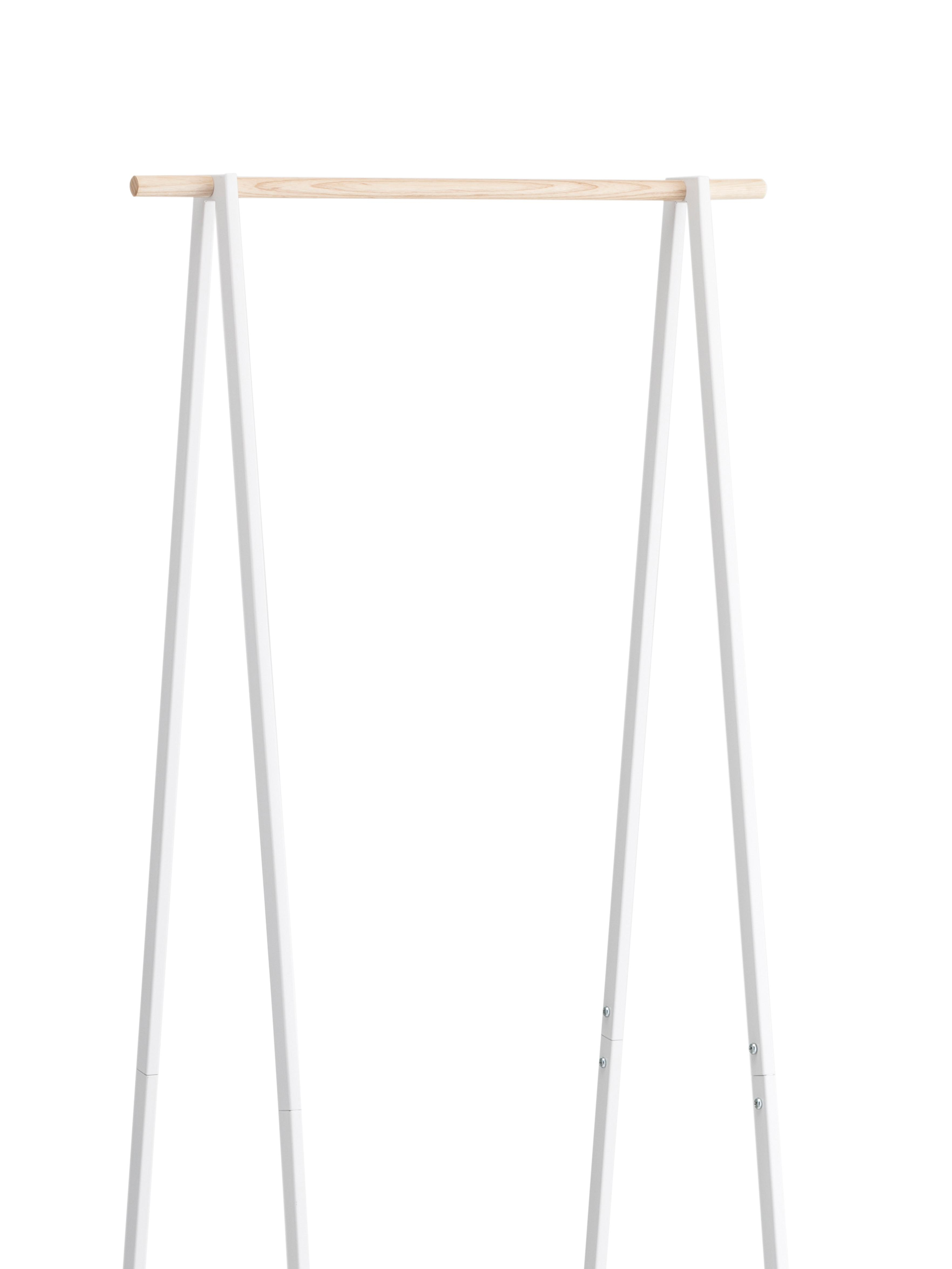 Metall-Kleiderständer Tower, Gestell: Metall, pulverbeschichtet, Weiß, 52 x 140 cm