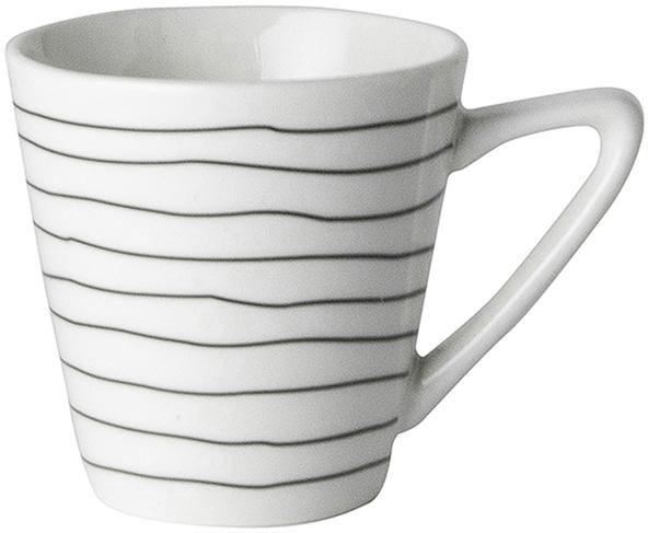 Tazza da caffè Eris Loft, 4 pz., Porcellana, Bianco, nero, Ø 6 x A 6 cm