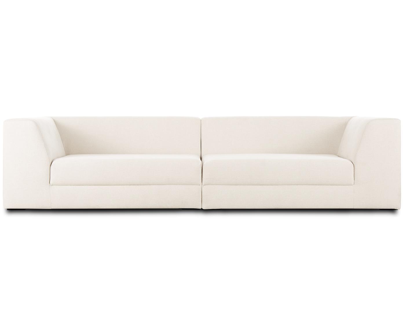 Modulares Sofa Grant (3-Sitzer), Bezug: Baumwolle 20.000 Scheuert, Gestell: Fichtenholz, Füße: Massives Buchenholz, lack, Webstoff Beige, B 266 x T 106 cm