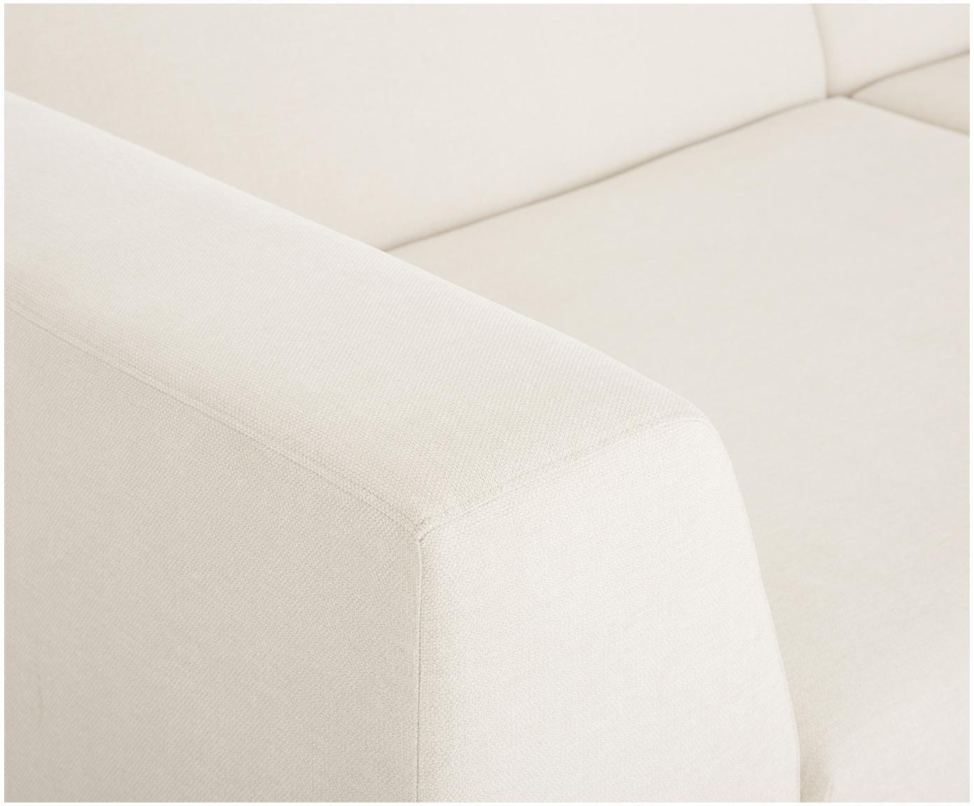 Sofa modułowa Grant (3-osobowa), Tapicerka: bawełna 20 000 cykli w te, Stelaż: drewno świerkowe, Nogi: lite drewno bukowe, lakie, Beżowy, S 266 x G 106 cm