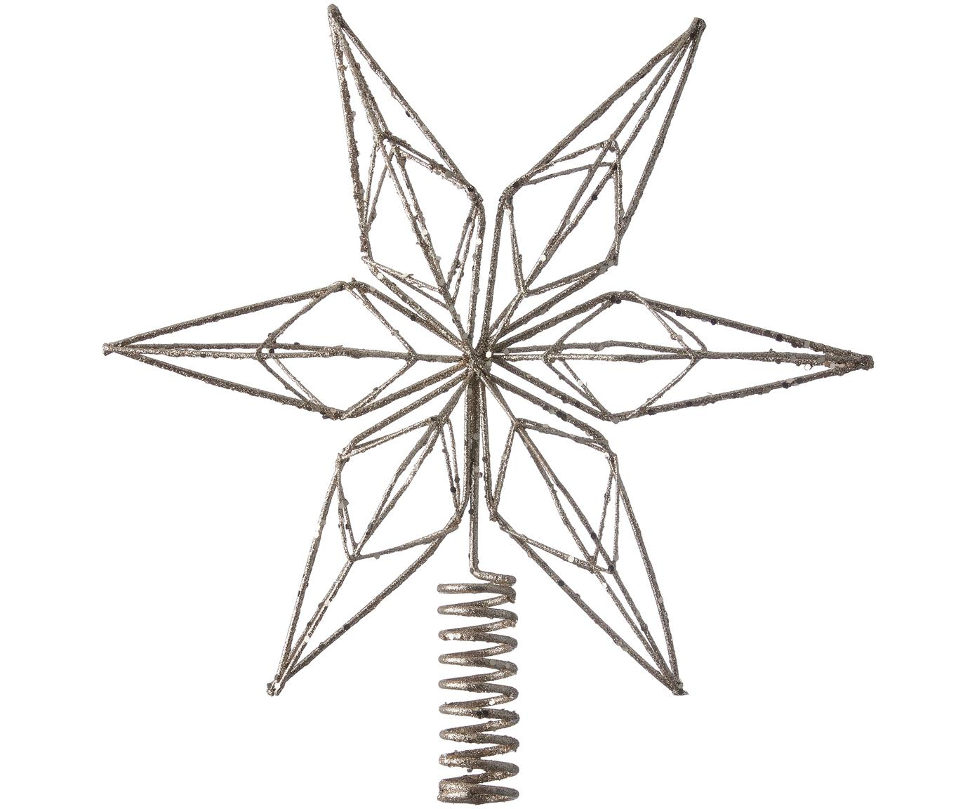 Puntale per albero di Natale Alivinne, Metallo verniciato, Ottonato, Larg. 27 x Alt. 28 cm