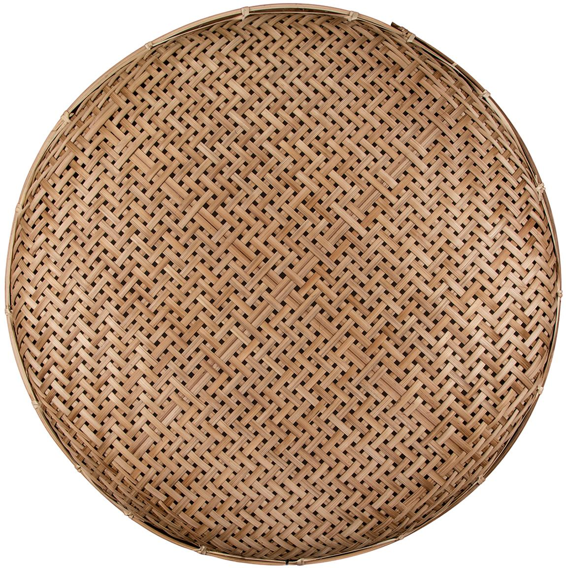 Rattan-Wandleuchte Aruba mit Stecker, Lampenschirm: Rattan, Rattan, Ø 50 x T 5 cm