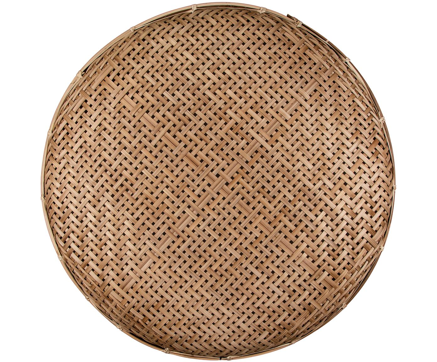 Kinkiet z rattanu z wtyczką Aruba, Rattan, Ø 50 x G 5 cm