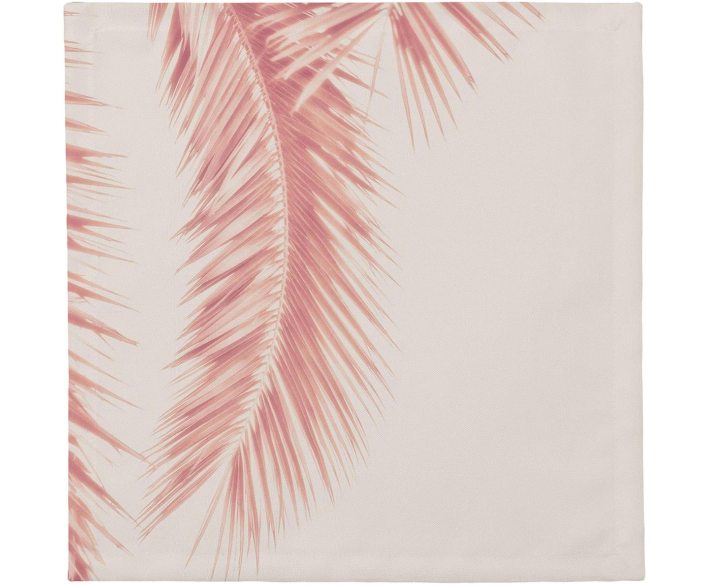 Serwetka z tkaniny Palm Leaves, 4 szt., Bawełna, Odcienie różowego, S 40 x D 40 cm