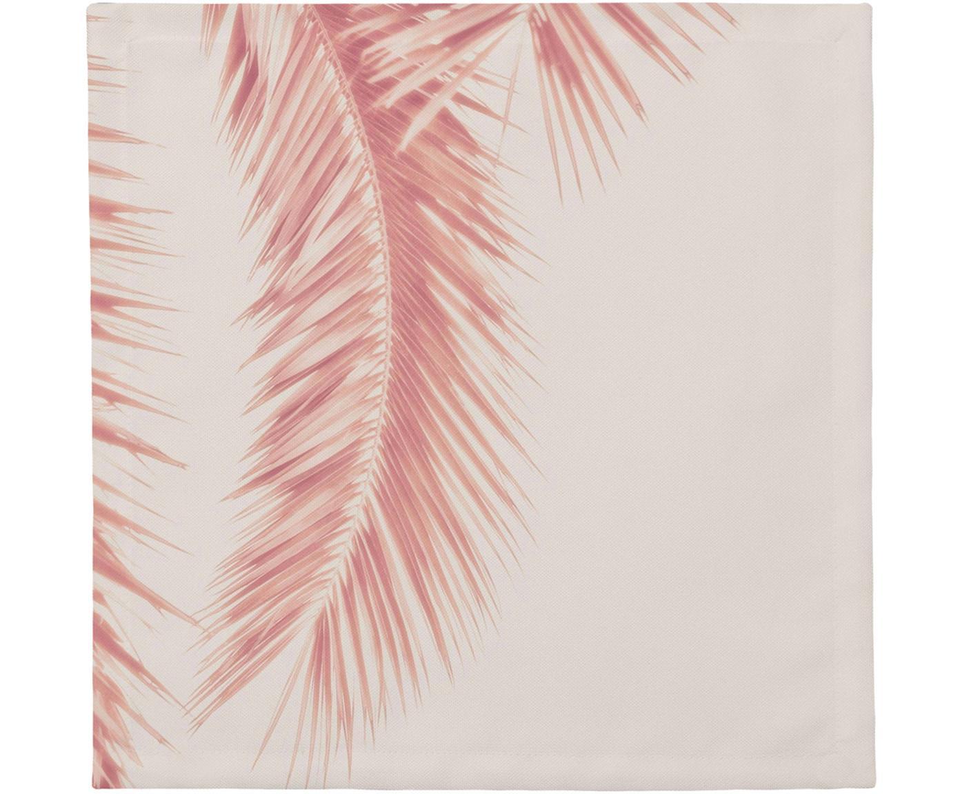 Stoffen servetten Palm Leaves, 4 stuks, Katoen, Rozetinten, 40 x 40 cm