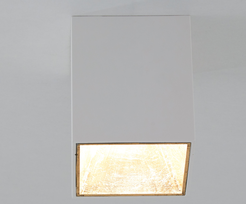 LED Deckenspot Marty, Weiß, Goldfarben, 10 x 12 cm