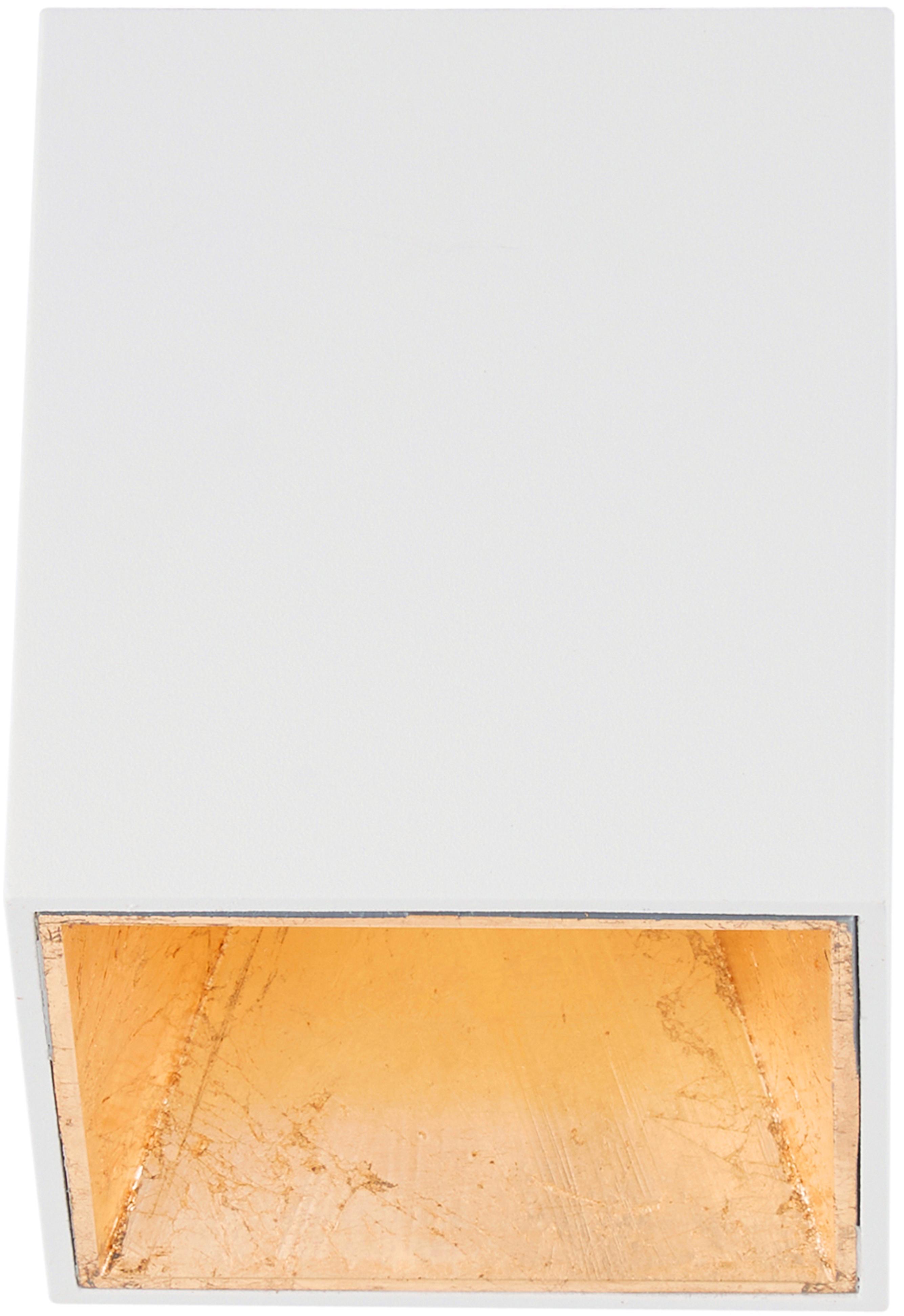 Faretto da soffitto a LED Marty, Bianco, dorato, Larg. 10 x Alt. 12 cm
