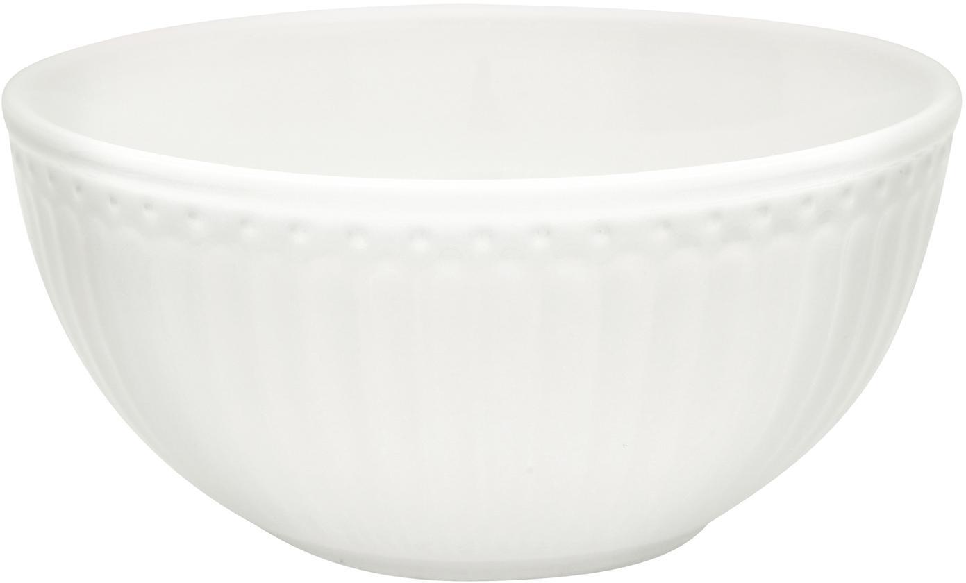 Miseczka Alice, 2 szt., Porcelana, Biały, Ø 14 cm
