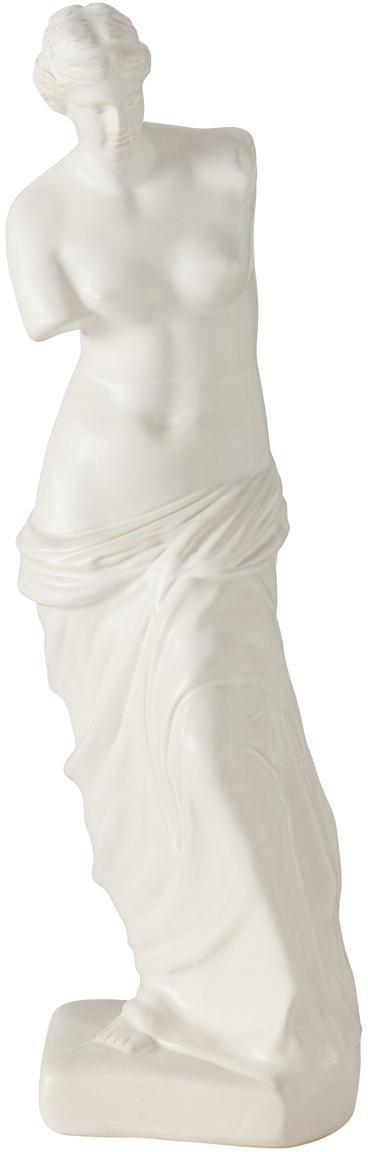Figura decorativa Lorenza, Gres, Blanco, An 12 x Al 41 cm