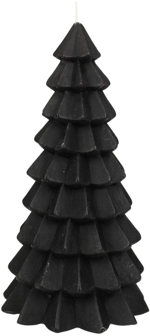 Candela Christmas Tree, Paraffina, Nero, Ø 10 x Alt. 20 cm