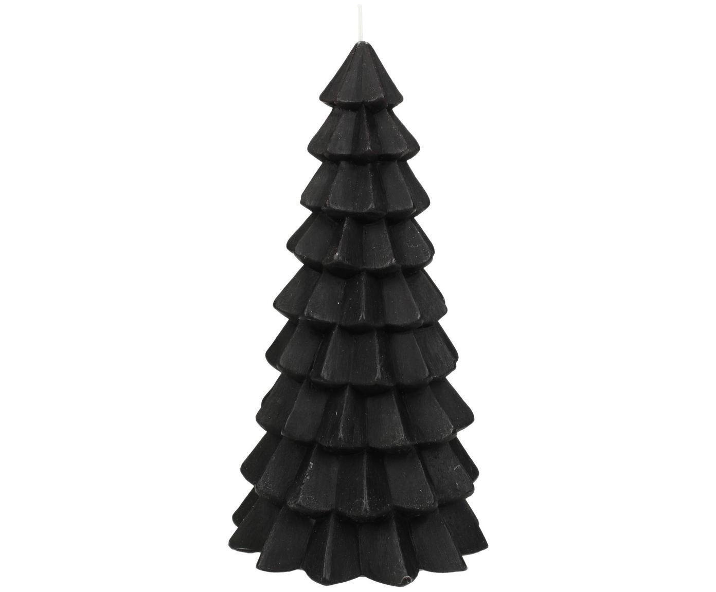 Vela Christmas Tree, Parafina, Negro, Ø 10 x Al 20 cm
