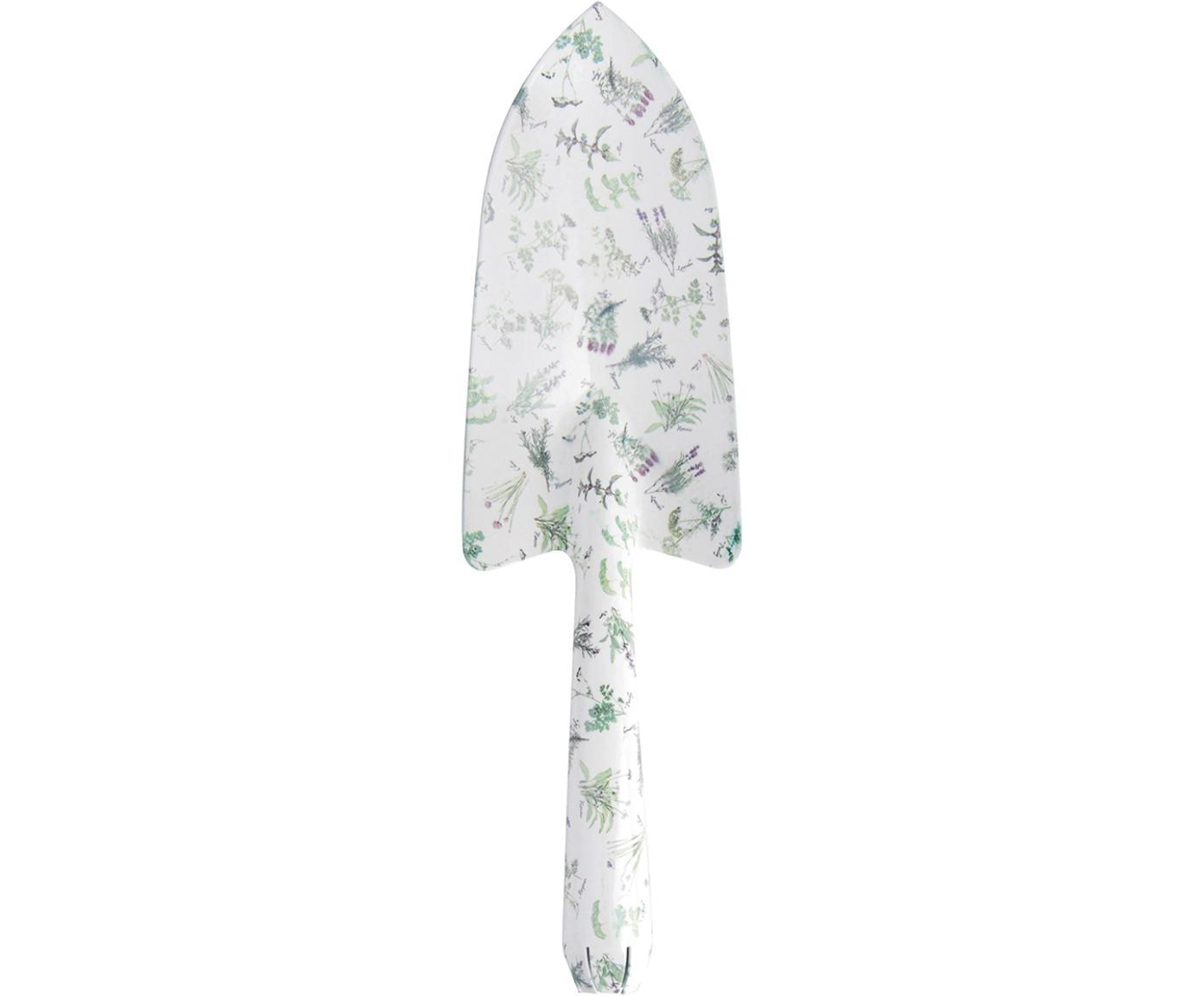 Blumenkelle Herbs, Weichstahl, beschichtet, Weiß, Grün, 8 x 28 cm