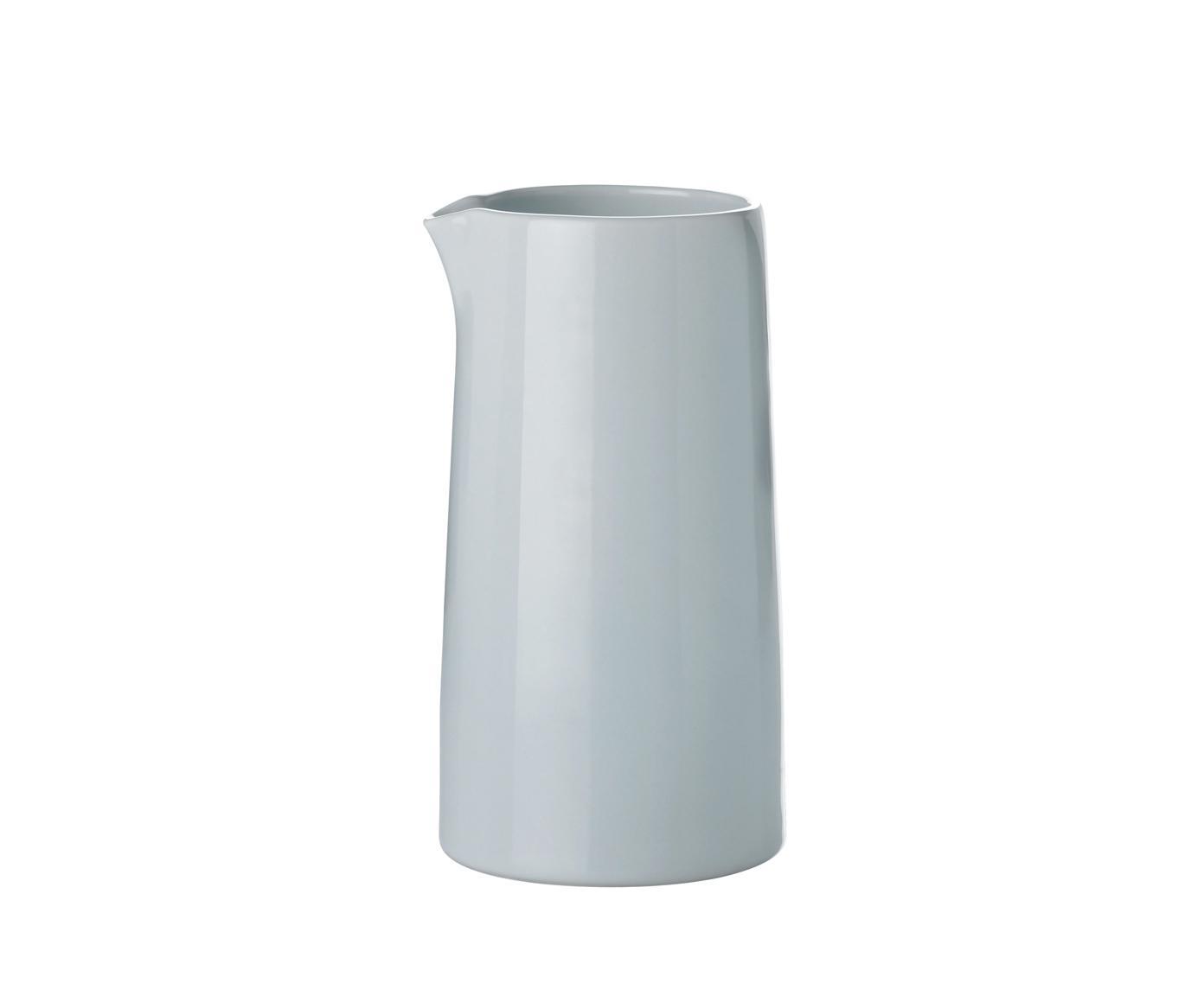 Thermo-Milchkännchen Emma, Porzellan, Blau,Grau, Ø 14 cm